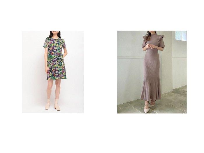【Desigual/デシグアル】のアーティプリントのレディースショートワンピース&【RESEXXY/リゼクシー】のマーメイドニットワンピース おすすめ!人気、トレンド・レディースファッションの通販 おすすめ人気トレンドファッション通販アイテム 人気、トレンドファッション・服の通販 founy(ファニー)  ファッション Fashion レディースファッション WOMEN ワンピース Dress ニットワンピース Knit Dresses フィット フリル ラベンダー 人気 今季 定番 Standard 2021年 2021 2021-2022秋冬・A/W AW・Autumn/Winter・FW・Fall-Winter・2021-2022 A/W・秋冬 AW・Autumn/Winter・FW・Fall-Winter カラフル ショート プリント ラウンド レギュラー 半袖 台形 |ID:crp329100000067568