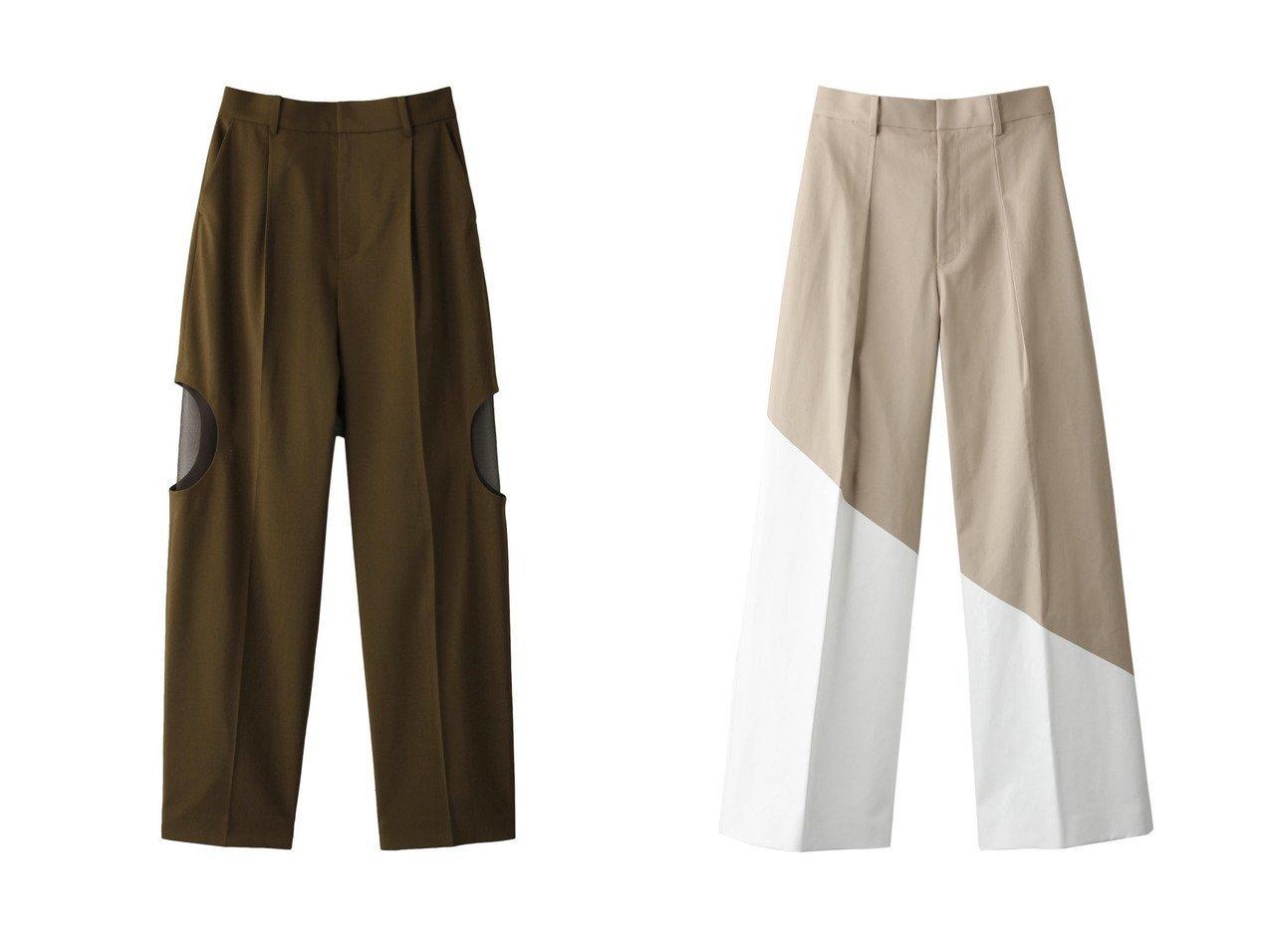 【LE CIEL BLEU/ルシェル ブルー】のカットアウトテーラードパンツ&ホワイトプリントパンツ 【パンツ】おすすめ!人気、トレンド・レディースファッションの通販 おすすめで人気の流行・トレンド、ファッションの通販商品 インテリア・家具・メンズファッション・キッズファッション・レディースファッション・服の通販 founy(ファニー) https://founy.com/ ファッション Fashion レディースファッション WOMEN パンツ Pants センター  ID:crp329100000067653