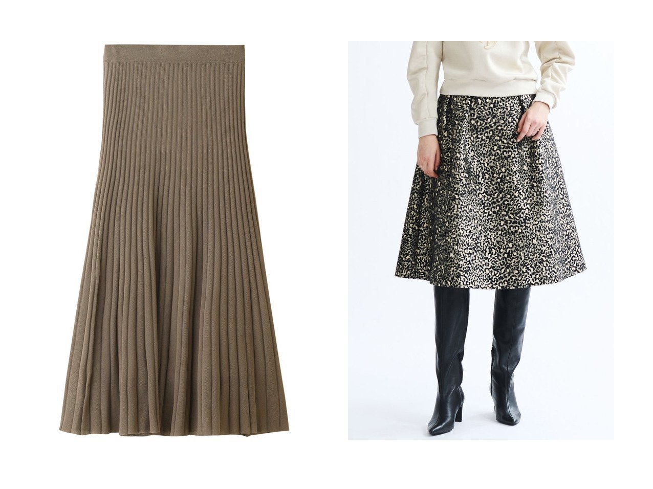 【three dots/スリー ドッツ】のバンピーセーター ロングスカート&【LANVIN en Bleu/ランバン オン ブルー】のレオパードジャカードタックスカート 【スカート】おすすめ!人気、トレンド・レディースファッションの通販 おすすめで人気の流行・トレンド、ファッションの通販商品 インテリア・家具・メンズファッション・キッズファッション・レディースファッション・服の通販 founy(ファニー) https://founy.com/ ファッション Fashion レディースファッション WOMEN スカート Skirt ロングスカート Long Skirt 2020年 2020 2020-2021秋冬・A/W AW・Autumn/Winter・FW・Fall-Winter/2020-2021 2021年 2021 2021-2022秋冬・A/W AW・Autumn/Winter・FW・Fall-Winter・2021-2022 A/W・秋冬 AW・Autumn/Winter・FW・Fall-Winter おすすめ Recommend シアー シンプル セットアップ フレア ロング |ID:crp329100000067681