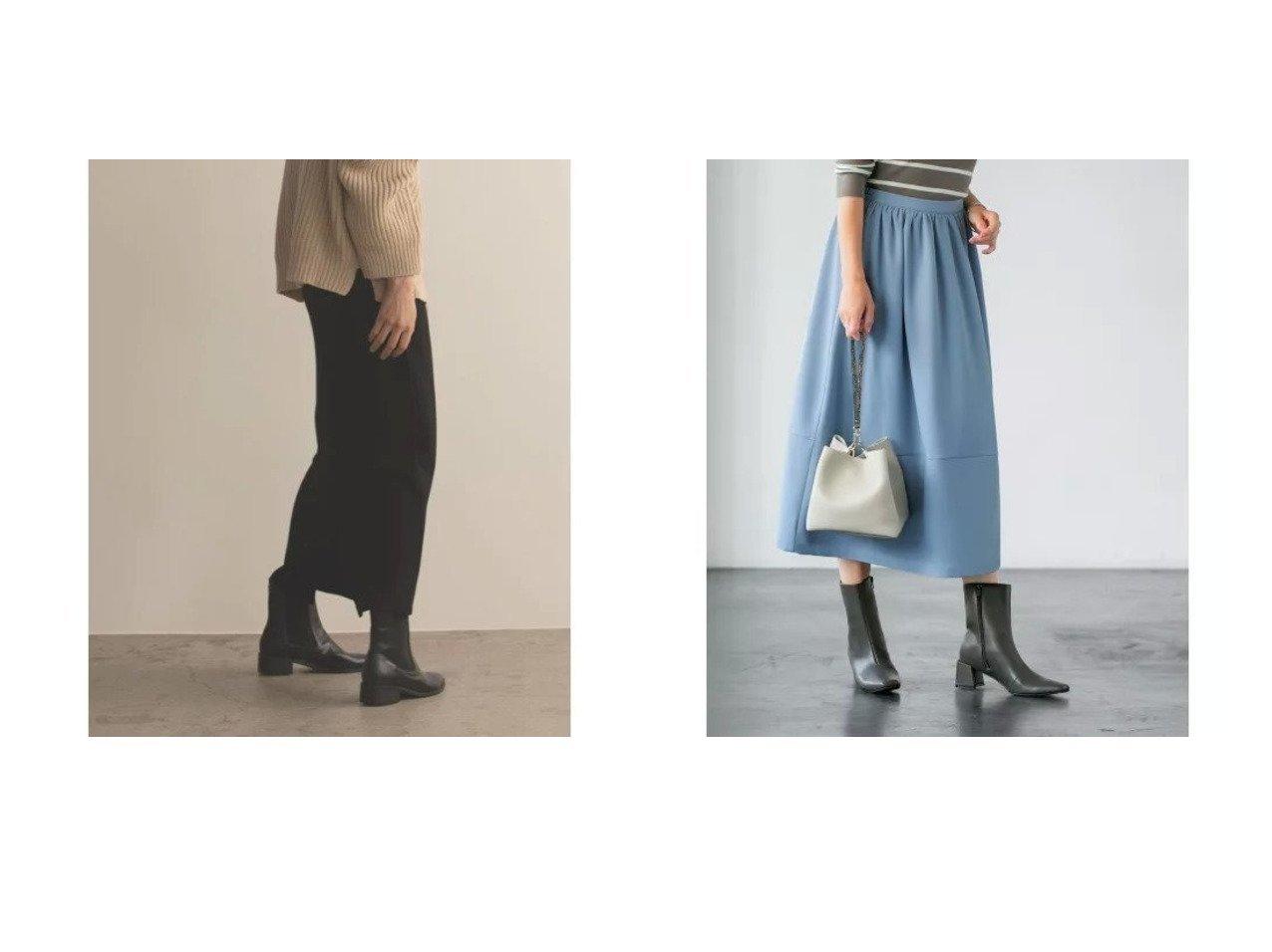 【marjour/マージュール】のSTRETCH ROUGH SKIRT&【STYLE DELI/スタイルデリ】のミディ丈裾切替ギャザーフレアスカート 【スカート】おすすめ!人気、トレンド・レディースファッションの通販 おすすめで人気の流行・トレンド、ファッションの通販商品 インテリア・家具・メンズファッション・キッズファッション・レディースファッション・服の通販 founy(ファニー) https://founy.com/ ファッション Fashion レディースファッション WOMEN スカート Skirt Aライン/フレアスカート Flared A-Line Skirts 春 Spring ギャザー 切替 シンプル 定番 Standard バランス フォルム フレア ポケット マキシ ロング 冬 Winter おすすめ Recommend アクセサリー クール サンダル ショート スウェット ストライプ ストレッチ スニーカー スリット タートル チェック 夏 Summer 楽ちん |ID:crp329100000067686