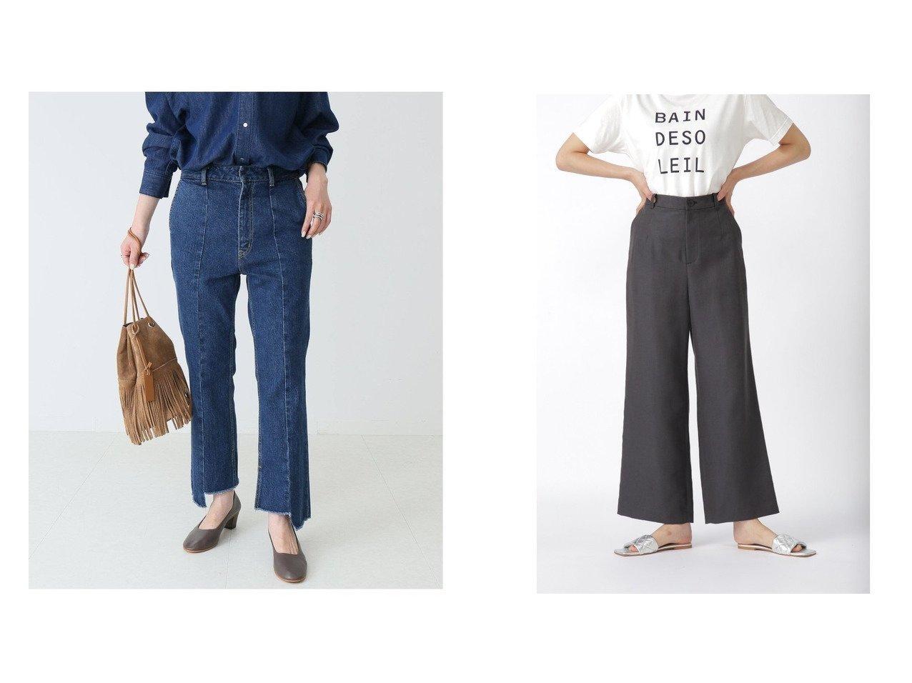 【Spick & Span/スピック&スパン】の【2】Boys-Line クロップドデニム&【HUMAN WOMAN/ヒューマンウーマン】の麻ドビーオックスパンツ 【パンツ】おすすめ!人気、トレンド・レディースファッションの通販 おすすめで人気の流行・トレンド、ファッションの通販商品 インテリア・家具・メンズファッション・キッズファッション・レディースファッション・服の通販 founy(ファニー) https://founy.com/ ファッション Fashion レディースファッション WOMEN パンツ Pants カットオフ コレクション シューズ ショート シンプル ジーンズ ストレッチ センター デニム バランス フィット フラット ベーシック A/W・秋冬 AW・Autumn/Winter・FW・Fall-Winter 2021年 2021 2021-2022秋冬・A/W AW・Autumn/Winter・FW・Fall-Winter・2021-2022 NEW・新作・新着・新入荷 New Arrivals おすすめ Recommend スリッポン セットアップ リラックス |ID:crp329100000068560