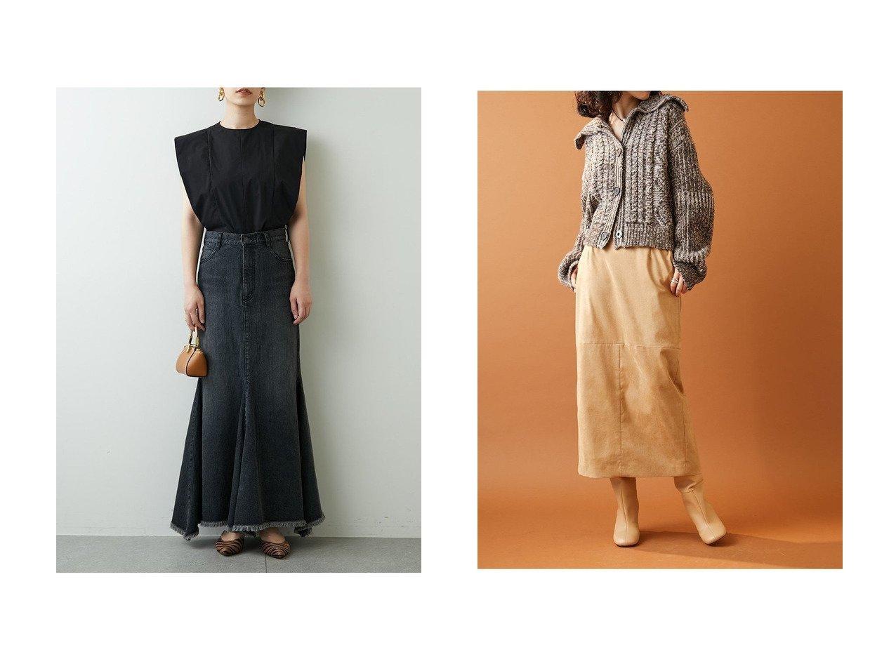 【Whim Gazette/ウィムガゼット】のデニムマーメイドスカート&【オンラインストア限定】フェイクスエードタイトスカート 【スカート】おすすめ!人気、トレンド・レディースファッションの通販 おすすめで人気の流行・トレンド、ファッションの通販商品 インテリア・家具・メンズファッション・キッズファッション・レディースファッション・服の通販 founy(ファニー) https://founy.com/ ファッション Fashion レディースファッション WOMEN スカート Skirt ロングスカート Long Skirt 2020年 2020 2020-2021秋冬・A/W AW・Autumn/Winter・FW・Fall-Winter/2020-2021 2021年 2021 2021-2022秋冬・A/W AW・Autumn/Winter・FW・Fall-Winter・2021-2022 A/W・秋冬 AW・Autumn/Winter・FW・Fall-Winter シューズ デニム バランス フィット ブリーチ マーメイド ロング  ID:crp329100000068568