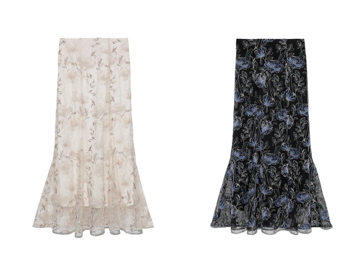 【Lily Brown/リリーブラウン】のレーススカート 【スカート】おすすめ!人気、トレンド・レディースファッションの通販 おすすめで人気の流行・トレンド、ファッションの通販商品 インテリア・家具・メンズファッション・キッズファッション・レディースファッション・服の通販 founy(ファニー) https://founy.com/ ファッション Fashion レディースファッション WOMEN スカート Skirt ロングスカート Long Skirt フラワー フレア モチーフ レース ロング 再入荷 Restock/Back in Stock/Re Arrival  ID:crp329100000068576