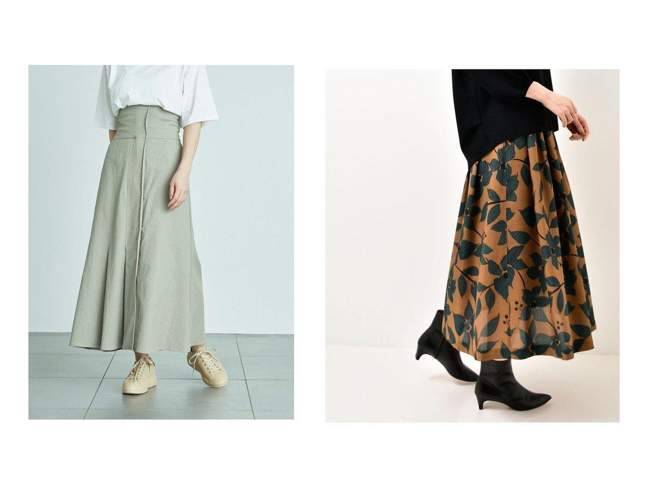 【emmi/エミ】の【emmi atelier】ハイウエストストレッチスカート&【le.coeur blanc/ルクールブラン】のアートフラワータックギャザースカート 【スカート】おすすめ!人気、トレンド・レディースファッションの通販 おすすめで人気の流行・トレンド、ファッションの通販商品 インテリア・家具・メンズファッション・キッズファッション・レディースファッション・服の通販 founy(ファニー) https://founy.com/ ファッション Fashion レディースファッション WOMEN スカート Skirt ロングスカート Long Skirt プリーツスカート Pleated Skirts ストレッチ ロング 吸水 おすすめ Recommend ギャザー フラワー プリント プリーツ リブニット  ID:crp329100000068578