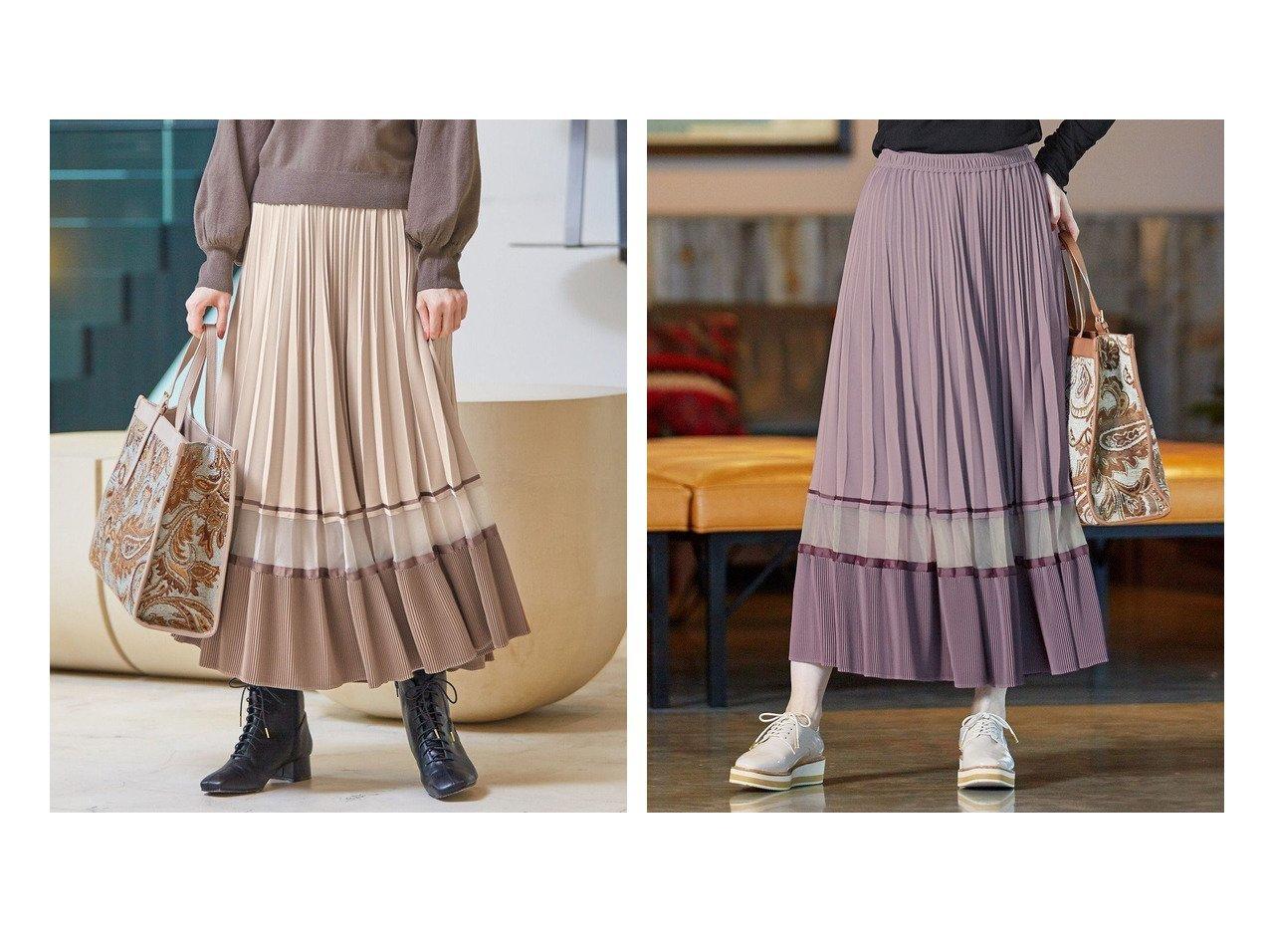 【Feroux/フェルゥ】の【洗える】Nobleプリーツ スカート 【スカート】おすすめ!人気、トレンド・レディースファッションの通販 おすすめで人気の流行・トレンド、ファッションの通販商品 インテリア・家具・メンズファッション・キッズファッション・レディースファッション・服の通販 founy(ファニー) https://founy.com/ ファッション Fashion レディースファッション WOMEN スカート Skirt プリーツスカート Pleated Skirts 送料無料 Free Shipping オーガンジー クリスタル コンビ スウェット パウダー プリーツ 洗える  ID:crp329100000068581