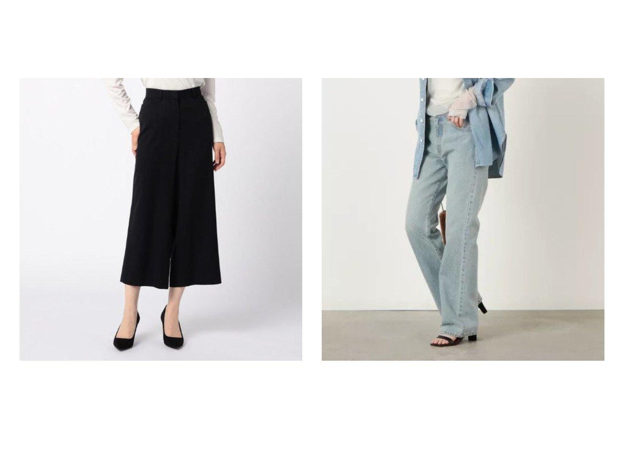 【Rie Miller/リエミラー】の【アティックバイジョンブル】ブーツカットデニムパンツ&【KEITH/キース】の80ナチュラルストレッチ パンツ 【パンツ】おすすめ!人気、トレンド・レディースファッションの通販 おすすめで人気の流行・トレンド、ファッションの通販商品 インテリア・家具・メンズファッション・キッズファッション・レディースファッション・服の通販 founy(ファニー) https://founy.com/ ファッション Fashion レディースファッション WOMEN パンツ Pants デニムパンツ Denim Pants A/W・秋冬 AW・Autumn/Winter・FW・Fall-Winter エレガント ストレッチ ポケット ワイド ヴィンテージ デニム フレア 2021年 2021 2021-2022秋冬・A/W AW・Autumn/Winter・FW・Fall-Winter・2021-2022 おすすめ Recommend 日本製 Made in Japan |ID:crp329100000068998