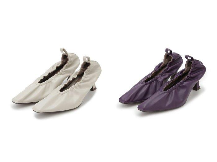 【Mila Owen/ミラオーウェン】のギャザーヒールパンプス 【シューズ・靴】おすすめ!人気、トレンド・レディースファッションの通販 おすすめ人気トレンドファッション通販アイテム 人気、トレンドファッション・服の通販 founy(ファニー) ファッション Fashion レディースファッション WOMEN ギャザー シューズ パープル フィット フェイクレザー フレア 今季  ID:crp329100000069026