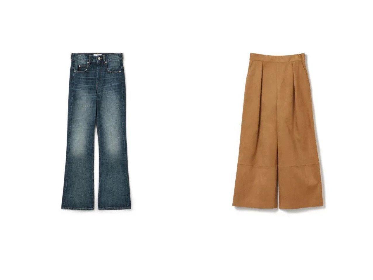 【LE CIEL BLEU/ルシェル ブルー】のSuedettePants&【ISABEL MARANT ETOILE/イザベル マラン】のIM Eパンツ 【パンツ】おすすめ!人気、トレンド・レディースファッションの通販 おすすめで人気の流行・トレンド、ファッションの通販商品 インテリア・家具・メンズファッション・キッズファッション・レディースファッション・服の通販 founy(ファニー) https://founy.com/ ファッション Fashion レディースファッション WOMEN パンツ Pants 2021年 2021 2021-2022秋冬・A/W AW・Autumn/Winter・FW・Fall-Winter・2021-2022 A/W・秋冬 AW・Autumn/Winter・FW・Fall-Winter デニム フレア ポケット メタル レギュラー 秋 Autumn/Fall フェイクレザー ワイド  ID:crp329100000069130