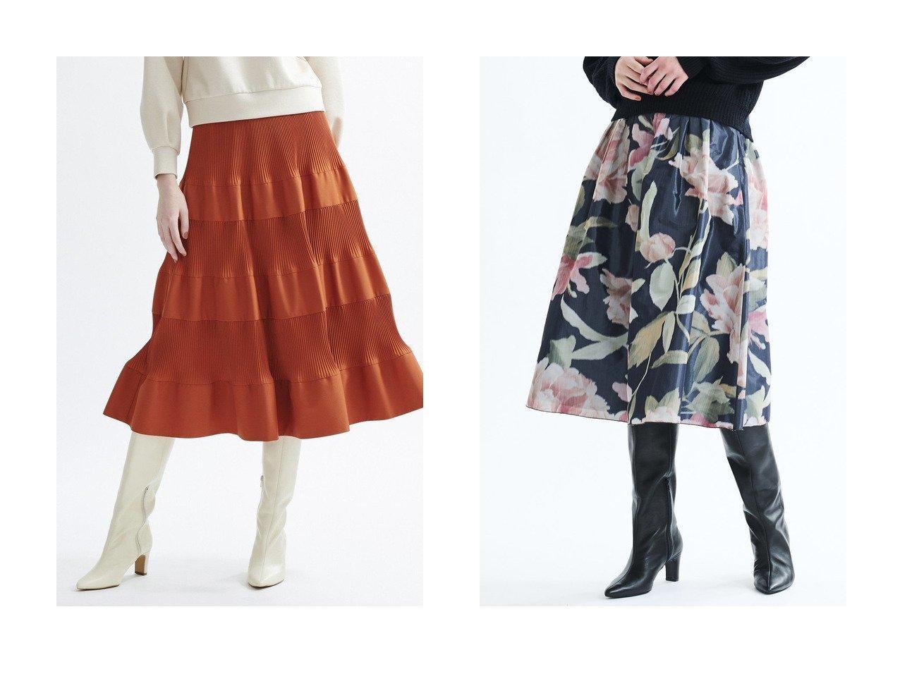【LANVIN en Bleu/ランバン オン ブルー】の切リ替エプリーツギャザースカート&フラワージャカードタフタスカート 【スカート】おすすめ!人気、トレンド・レディースファッションの通販 おすすめで人気の流行・トレンド、ファッションの通販商品 インテリア・家具・メンズファッション・キッズファッション・レディースファッション・服の通販 founy(ファニー) https://founy.com/ ファッション Fashion レディースファッション WOMEN スカート Skirt イレギュラー コンパクト セットアップ タイプライター フィット プリーツ ポケット ミドル おすすめ Recommend イタリア フラワー フレア |ID:crp329100000069137