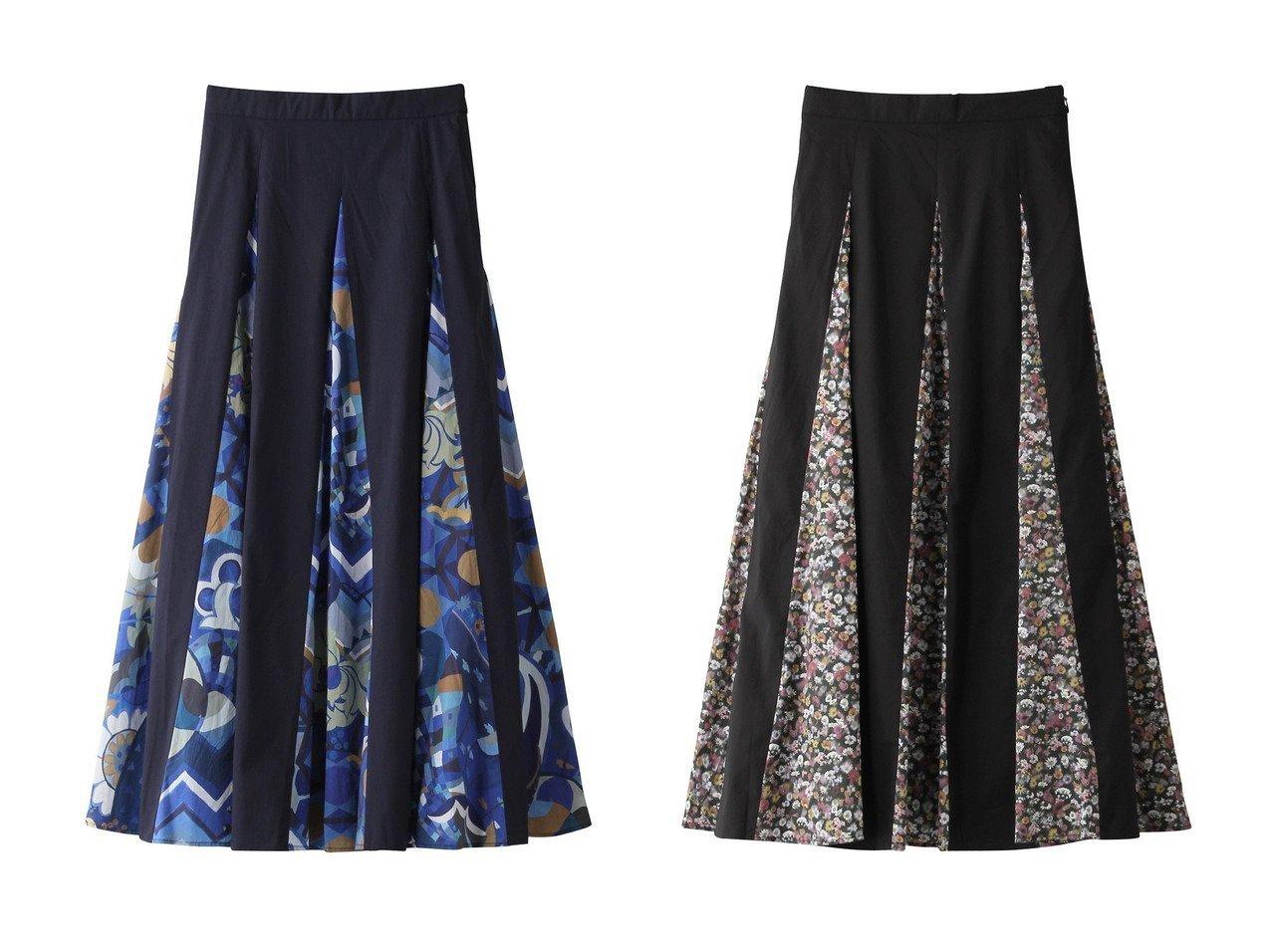 【ROSE BUD/ローズバッド】の【PRINT MANIA】オリエンタルプリント切替ロングスカート&【PRINT MANIA】フラワープリント切替ロングスカート 【スカート】おすすめ!人気、トレンド・レディースファッションの通販 おすすめで人気の流行・トレンド、ファッションの通販商品 インテリア・家具・メンズファッション・キッズファッション・レディースファッション・服の通販 founy(ファニー) https://founy.com/ ファッション Fashion レディースファッション WOMEN スカート Skirt ロングスカート Long Skirt オリエンタル コンビ プリント ロング 切替 無地 |ID:crp329100000069143