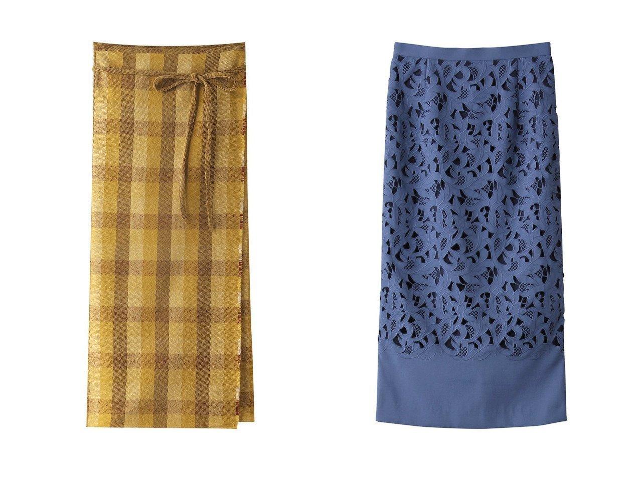 【allureville/アルアバイル】のエンブロイダリータイトスカート&【POSTELEGANT/ポステレガント】のウールコットンチェックラップスカート 【スカート】おすすめ!人気、トレンド・レディースファッションの通販 おすすめで人気の流行・トレンド、ファッションの通販商品 インテリア・家具・メンズファッション・キッズファッション・レディースファッション・服の通販 founy(ファニー) https://founy.com/ ファッション Fashion レディースファッション WOMEN スカート Skirt ロングスカート Long Skirt スリム チェック ブランケット マキシ リラックス ロング |ID:crp329100000069144