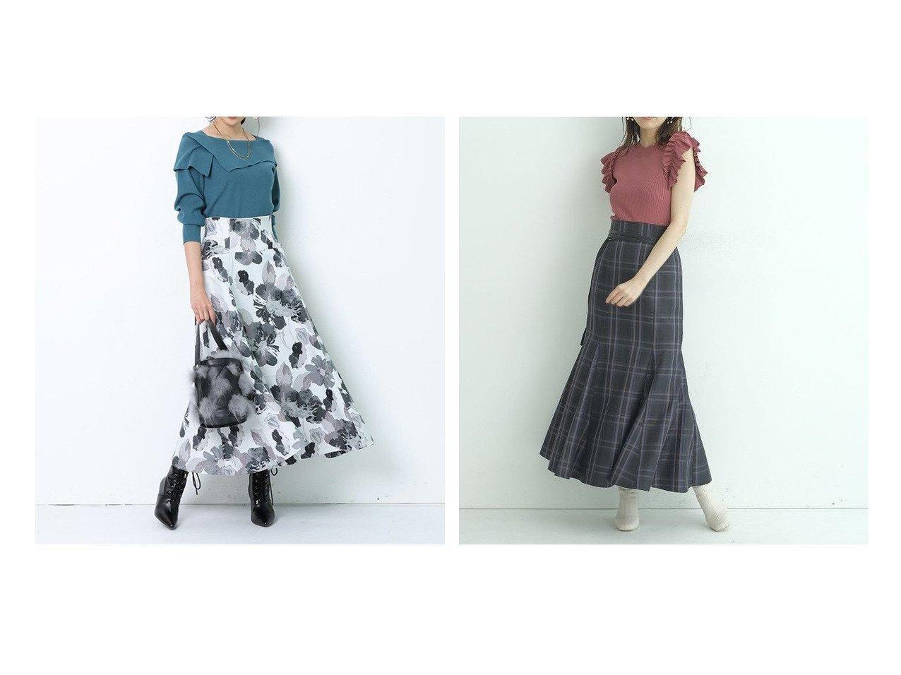 【JUSGLITTY/ジャスグリッティー】のフラワージャガードスカート&【Mystrada/マイストラーダ】のチェックマーメイドスカート 【スカート】おすすめ!人気、トレンド・レディースファッションの通販 おすすめで人気の流行・トレンド、ファッションの通販商品 インテリア・家具・メンズファッション・キッズファッション・レディースファッション・服の通販 founy(ファニー) https://founy.com/ ファッション Fashion レディースファッション WOMEN スカート Skirt Aライン/フレアスカート Flared A-Line Skirts NEW・新作・新着・新入荷 New Arrivals エレガント ギャザー ジャカード パーティ フラワー フレア スマート チェック フィット マーメイド ロング |ID:crp329100000069609