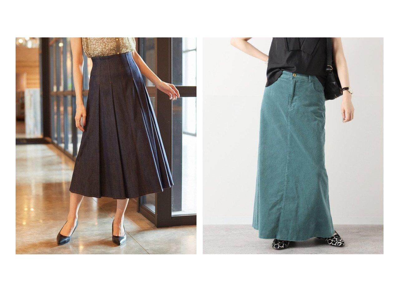 【ANAYI/アナイ】のデニムライクタック スカート&【FRAMeWORK/フレームワーク】のコールスカート 【スカート】おすすめ!人気、トレンド・レディースファッションの通販 おすすめで人気の流行・トレンド、ファッションの通販商品 インテリア・家具・メンズファッション・キッズファッション・レディースファッション・服の通販 founy(ファニー) https://founy.com/ ファッション Fashion レディースファッション WOMEN スカート Skirt Aライン/フレアスカート Flared A-Line Skirts A/W・秋冬 AW・Autumn/Winter・FW・Fall-Winter 冬 Winter ギャザー シルク ストレッチ デニム フレア 再入荷 Restock/Back in Stock/Re Arrival 2021年 2021 2021-2022秋冬・A/W AW・Autumn/Winter・FW・Fall-Winter・2021-2022 ポケット ヴィンテージ 定番 Standard |ID:crp329100000069610
