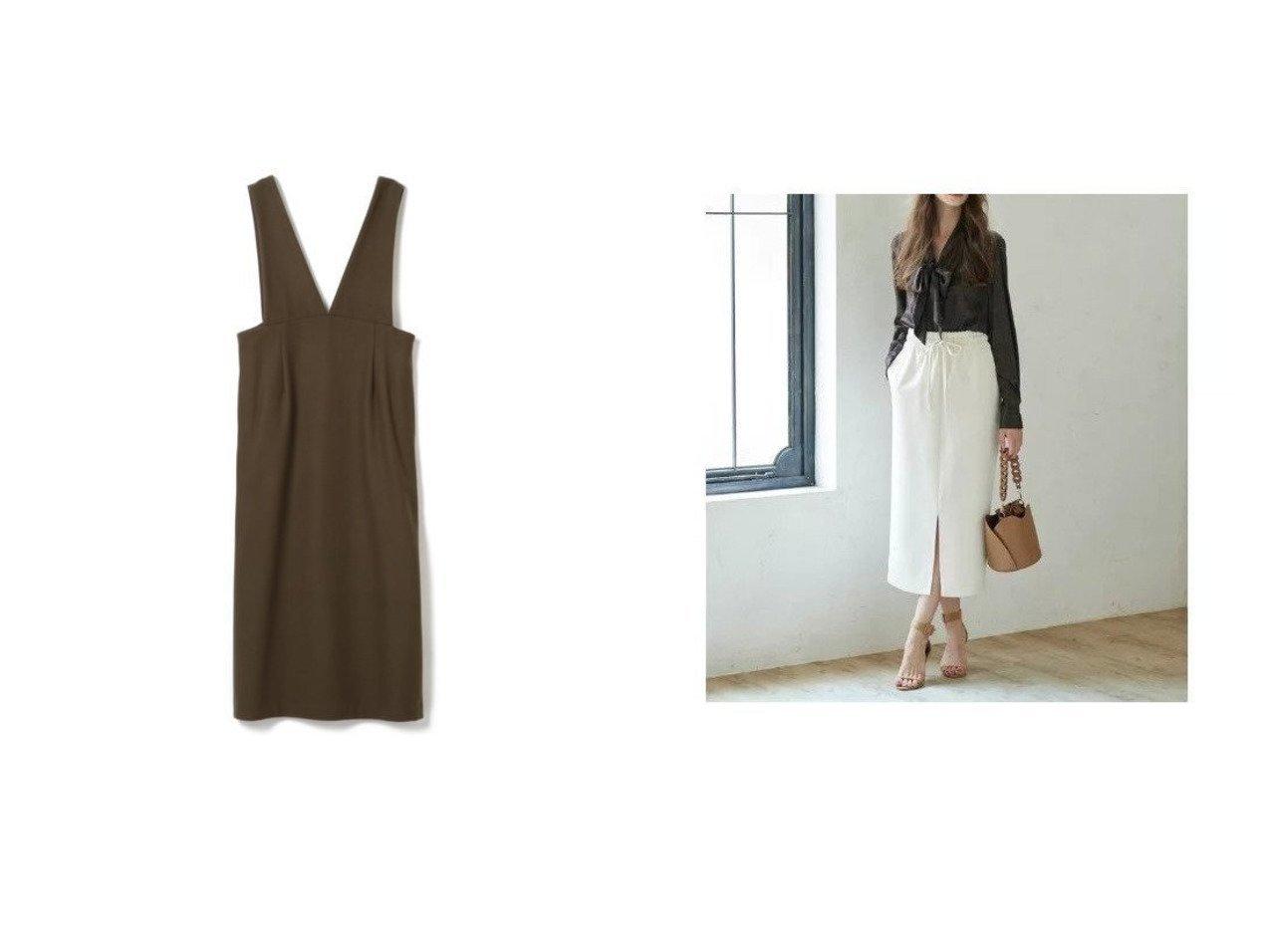 【SACRA/サクラ】のウールジャンパースカート&【CLEAR IMPRESSION/クリアインプレッション】の《INED CLARO》ドロストスカート 【スカート】おすすめ!人気、トレンド・レディースファッションの通販 おすすめで人気の流行・トレンド、ファッションの通販商品 インテリア・家具・メンズファッション・キッズファッション・レディースファッション・服の通販 founy(ファニー) https://founy.com/ ファッション Fashion レディースファッション WOMEN スカート Skirt スリット センター タイトスカート リラックス ノースリーブ フォルム |ID:crp329100000069612