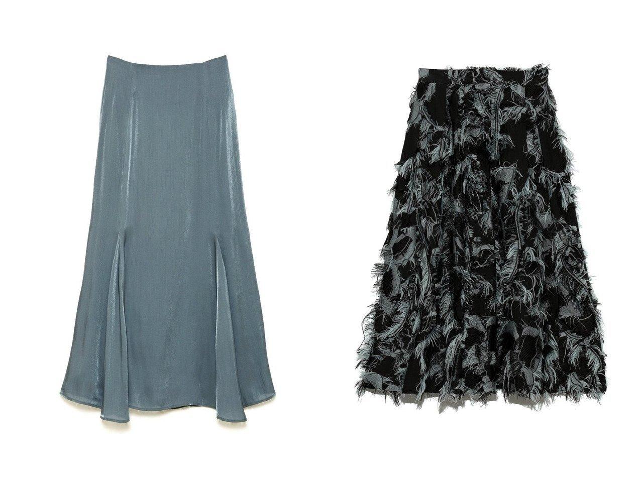 【CELFORD/セルフォード】のカットジャガードスカート&光沢シアーフレアスカート 【スカート】おすすめ!人気、トレンド・レディースファッションの通販 おすすめで人気の流行・トレンド、ファッションの通販商品 インテリア・家具・メンズファッション・キッズファッション・レディースファッション・服の通販 founy(ファニー) https://founy.com/ ファッション Fashion レディースファッション WOMEN スカート Skirt Aライン/フレアスカート Flared A-Line Skirts ロングスカート Long Skirt NEW・新作・新着・新入荷 New Arrivals シャーリング フィット マーメイド ランダム キュプラ フリンジ モチーフ ロング |ID:crp329100000069615