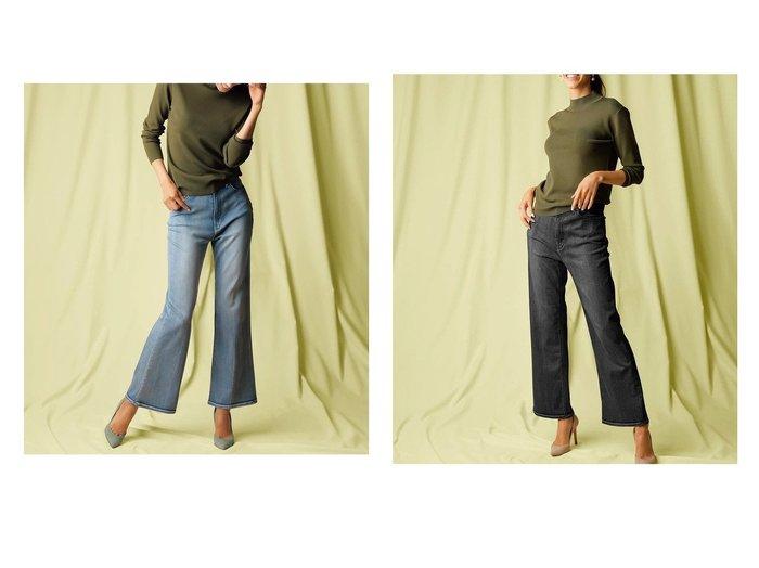 【DoCLASSE/ドゥクラッセ】の甘撚りクールデニム・ビューティフレア 40代、50代の女性におすすめ!人気、トレンド・レディースファッションの通販 おすすめ人気トレンドファッション通販アイテム 人気、トレンドファッション・服の通販 founy(ファニー)  ファッション Fashion レディースファッション WOMEN ストレッチ デニム パターン フロント 人気 |ID:crp329100000069890
