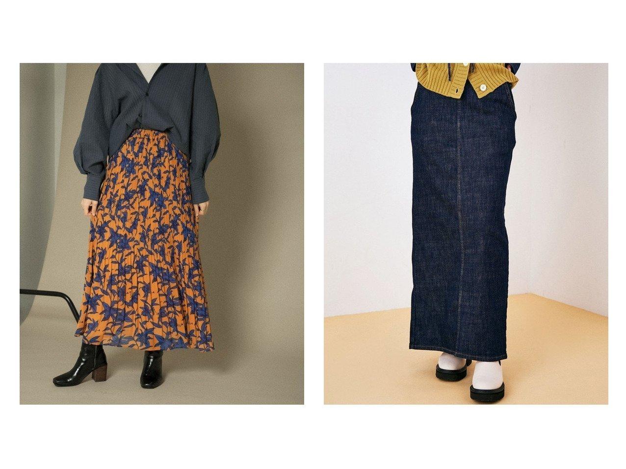 【KBF / URBAN RESEARCH/ケービーエフ】の【一部店舗限定】フラワープリントプリーツスカート&【ROPE' mademoiselle/ロペ マドモアゼル】のChloe ストレッチマキシスカート 【スカート】おすすめ!人気、トレンド・レディースファッションの通販 おすすめで人気の流行・トレンド、ファッションの通販商品 インテリア・家具・メンズファッション・キッズファッション・レディースファッション・服の通販 founy(ファニー) https://founy.com/ ファッション Fashion レディースファッション WOMEN スカート Skirt デニムスカート Denim Skirts プリーツスカート Pleated Skirts アクセサリー インディゴ 秋 Autumn/Fall ストレッチ デニム トレンド パール ポケット レース ロング おすすめ Recommend くるぶし コンパクト サンダル スウェット プリーツ ベスト A/W・秋冬 AW・Autumn/Winter・FW・Fall-Winter 夏 Summer  ID:crp329100000070090