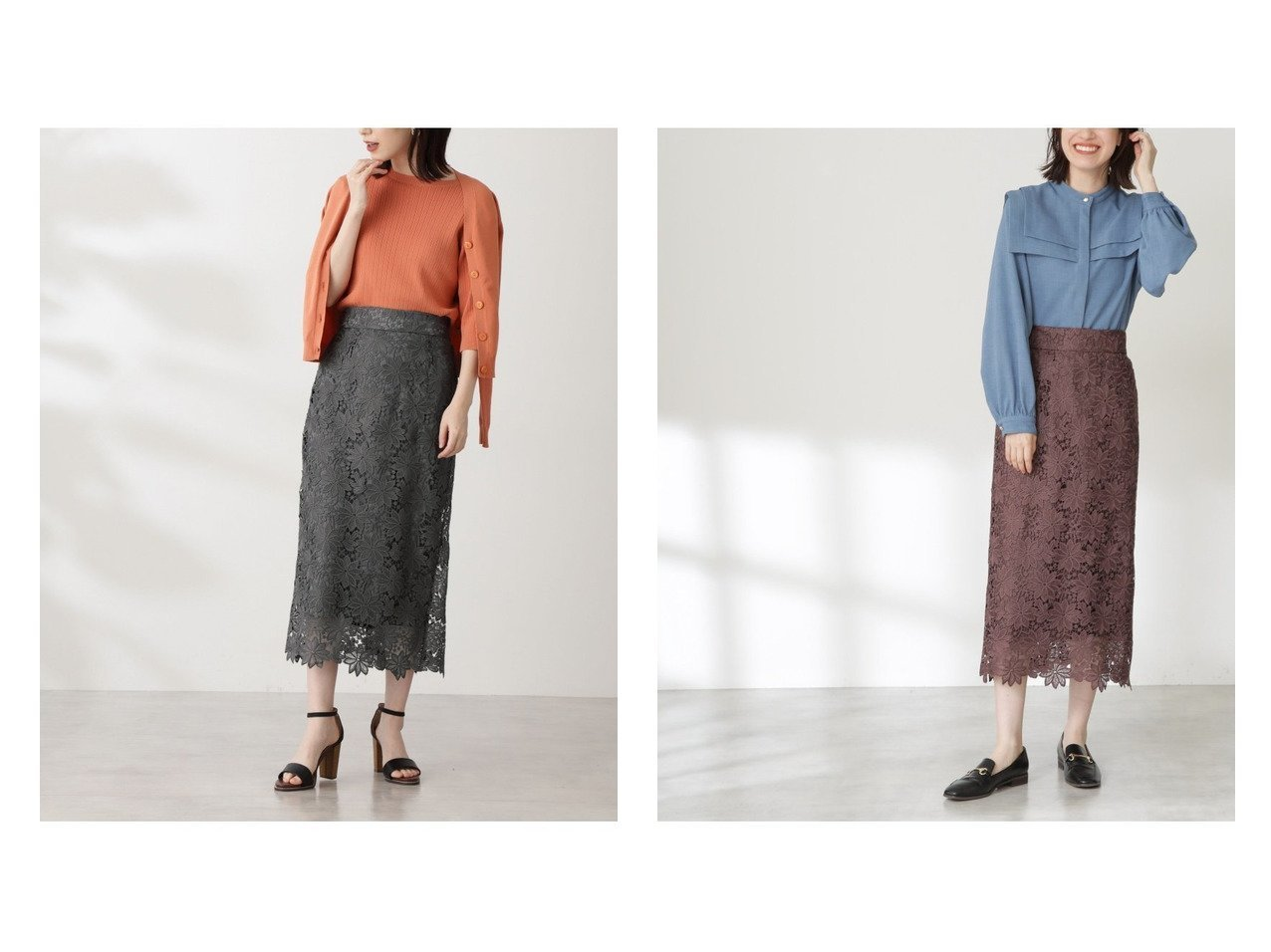 【N.Natural Beauty basic/エヌ ナチュラルビューティーベーシック】のケミカルレースロングスカート 【スカート】おすすめ!人気、トレンド・レディースファッションの通販 おすすめで人気の流行・トレンド、ファッションの通販商品 インテリア・家具・メンズファッション・キッズファッション・レディースファッション・服の通販 founy(ファニー) https://founy.com/ ファッション Fashion レディースファッション WOMEN スカート Skirt ロングスカート Long Skirt ケミカル スカラップ ストレート レース ロング 人気 定番 Standard  ID:crp329100000070091