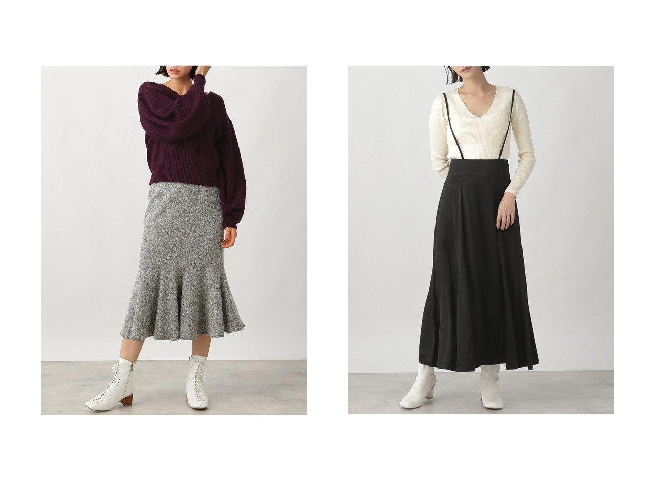 【Ezick/エジック】のマーメイドツイードスカート&ハイウエストサテンスカート 【スカート】おすすめ!人気、トレンド・レディースファッションの通販 おすすめで人気の流行・トレンド、ファッションの通販商品 インテリア・家具・メンズファッション・キッズファッション・レディースファッション・服の通販 founy(ファニー) https://founy.com/ ファッション Fashion レディースファッション WOMEN スカート Skirt ロングスカート Long Skirt サスペンダー サテン ドレープ フレア ロング 冬 Winter ショート フェミニン ヘリンボーン マーメイド |ID:crp329100000070200