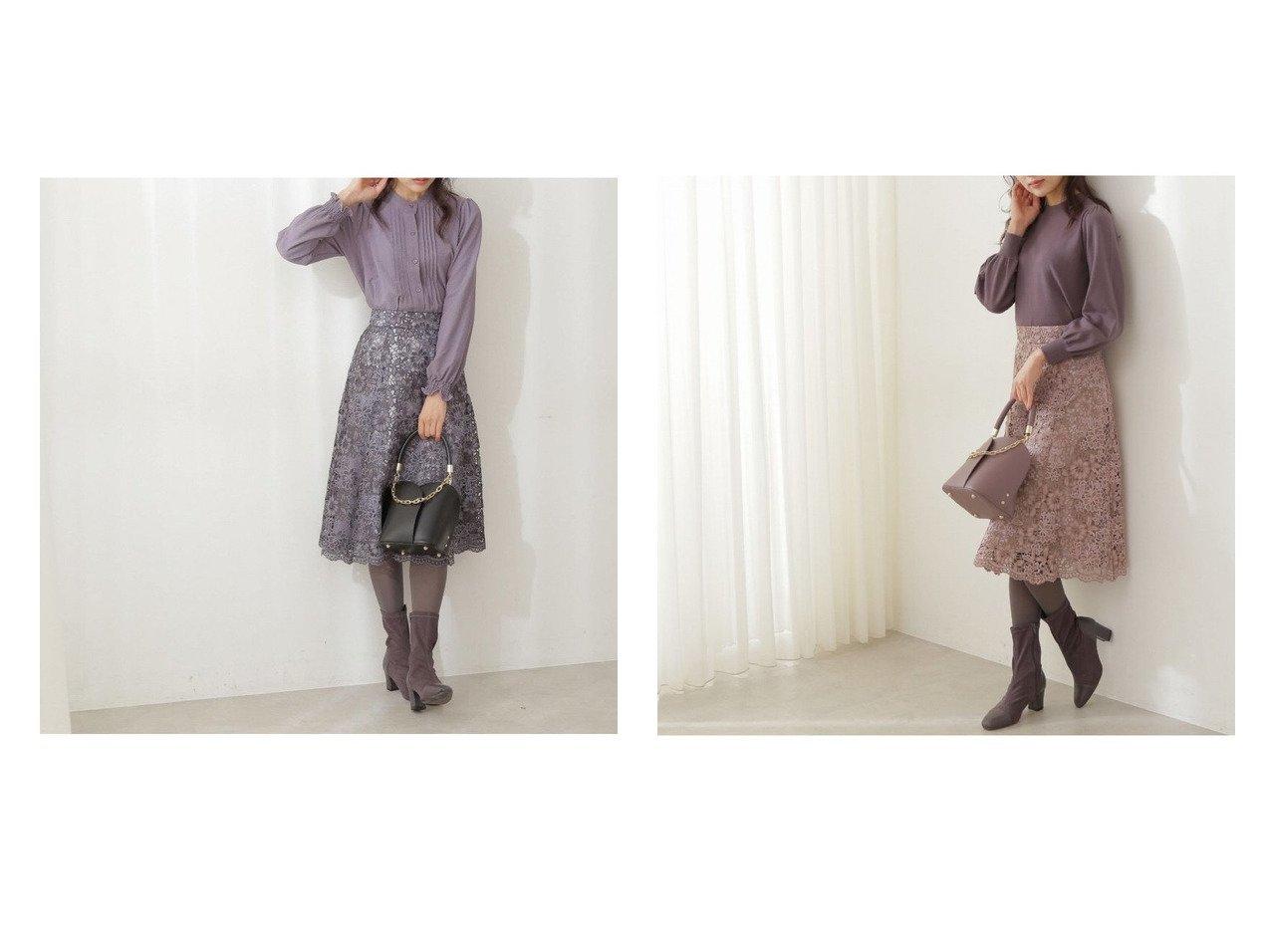 【PROPORTION BODY DRESSING/プロポーション ボディドレッシング】のツートーンケミカルレースフレアスカート 【スカート】おすすめ!人気、トレンド・レディースファッションの通販 おすすめで人気の流行・トレンド、ファッションの通販商品 インテリア・家具・メンズファッション・キッズファッション・レディースファッション・服の通販 founy(ファニー) https://founy.com/ ファッション Fashion レディースファッション WOMEN スカート Skirt Aライン/フレアスカート Flared A-Line Skirts ショート フェミニン フレア ワーク 秋 Autumn/Fall  ID:crp329100000070580