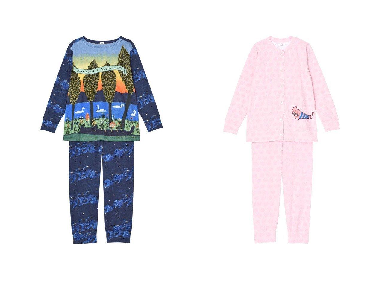 【tsumori chisato SLEEP/ツモリチサト スリープ】のパジャマ ロング袖ロングパンツ 飛び立つ白鳥ワコール UDQ141&パジャマ ロング袖ロングパンツ パイルジャカードワコール UDQ140 おすすめ!人気、トレンド・レディースファッションの通販 おすすめで人気の流行・トレンド、ファッションの通販商品 インテリア・家具・メンズファッション・キッズファッション・レディースファッション・服の通販 founy(ファニー) https://founy.com/ ファッション Fashion レディースファッション WOMEN パンツ Pants 送料無料 Free Shipping アンダー グラデーション パジャマ ロング 秋 Autumn/Fall |ID:crp329100000070614