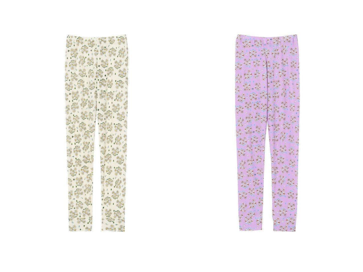 【tsumori chisato SLEEP/ツモリチサト スリープ】のボトム(ロングパンツ)クラシックな花のブーケプリントワコール ULQ133 おすすめ!人気、トレンド・レディースファッションの通販 おすすめで人気の流行・トレンド、ファッションの通販商品 インテリア・家具・メンズファッション・キッズファッション・レディースファッション・服の通販 founy(ファニー) https://founy.com/ ファッション Fashion レディースファッション WOMEN パンツ Pants 送料無料 Free Shipping アンダー クラシック ネコ プリント ボトム ロング ワッフル 秋 Autumn/Fall |ID:crp329100000070615