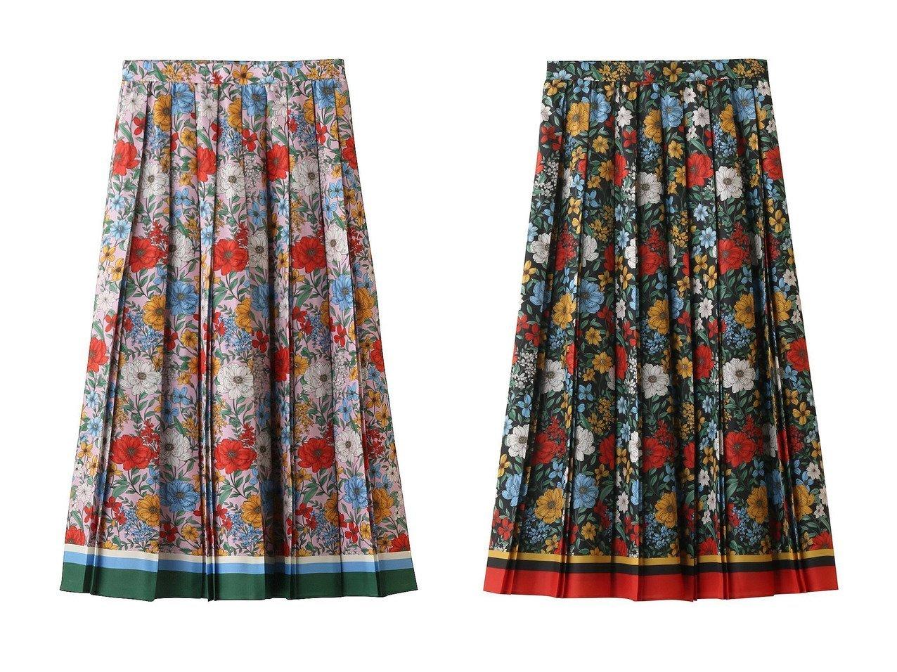 【allureville/アルアバイル】の【Loulou Willoughby】ボタニカルパネルフラワースカート 【スカート】おすすめ!人気、トレンド・レディースファッションの通販 おすすめで人気の流行・トレンド、ファッションの通販商品 インテリア・家具・メンズファッション・キッズファッション・レディースファッション・服の通販 founy(ファニー) https://founy.com/ ファッション Fashion レディースファッション WOMEN スカート Skirt ロングスカート Long Skirt おすすめ Recommend セットアップ パーティ フラワー プリント プリーツ ロング |ID:crp329100000070667