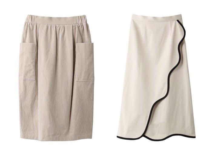 【mizuiro ind/ミズイロ インド】のコーデュロイサイドポケットスカート&【LE CIEL BLEU/ルシェル ブルー】のオーガニックラインスカート 【スカート】おすすめ!人気、トレンド・レディースファッションの通販 おすすめ人気トレンドファッション通販アイテム 人気、トレンドファッション・服の通販 founy(ファニー) ファッション Fashion レディースファッション WOMEN スカート Skirt ロングスカート Long Skirt ギャザー コーデュロイ シンプル ポケット ロング |ID:crp329100000070669