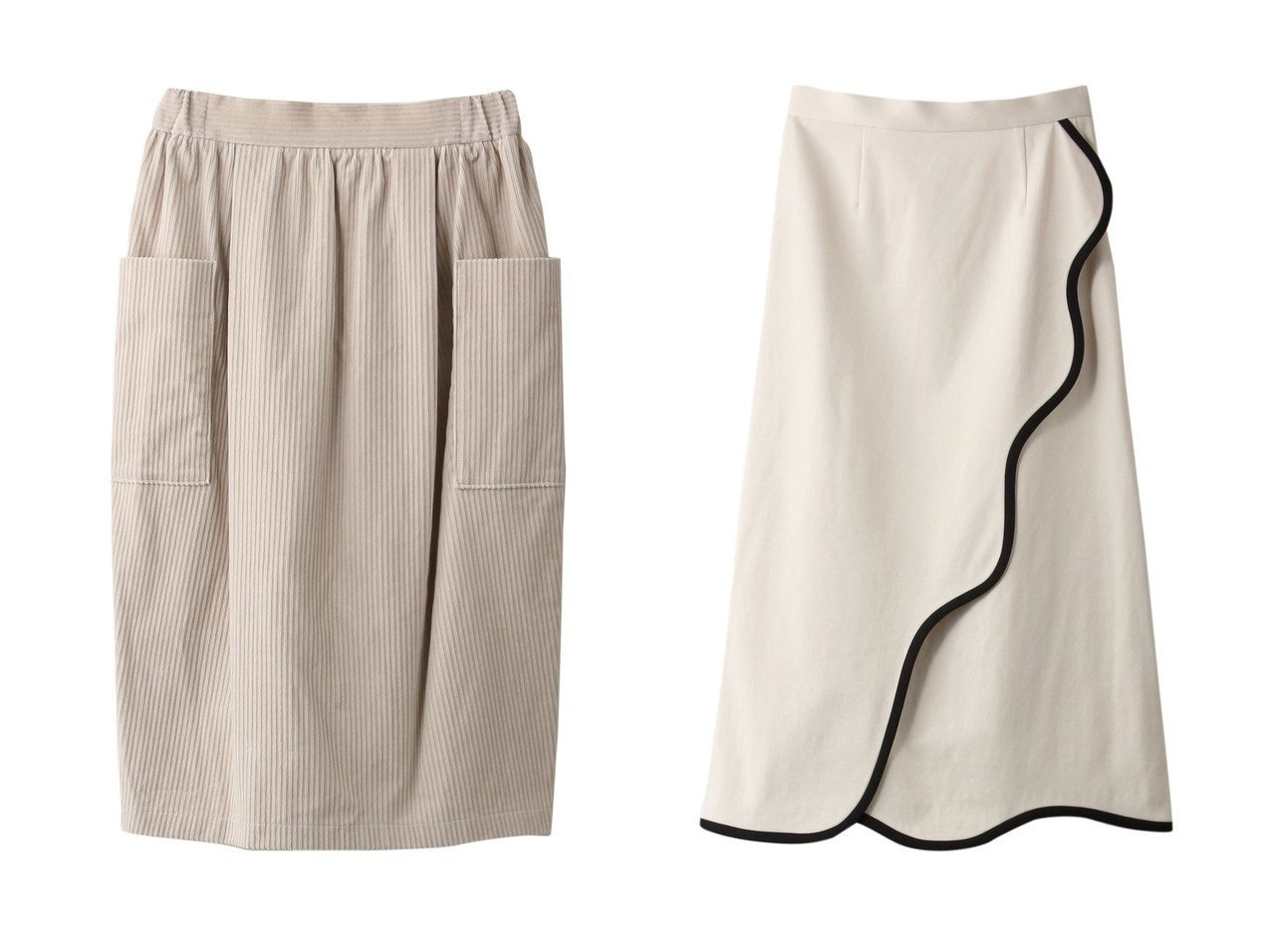【mizuiro ind/ミズイロ インド】のコーデュロイサイドポケットスカート&【LE CIEL BLEU/ルシェル ブルー】のオーガニックラインスカート 【スカート】おすすめ!人気、トレンド・レディースファッションの通販 おすすめで人気の流行・トレンド、ファッションの通販商品 インテリア・家具・メンズファッション・キッズファッション・レディースファッション・服の通販 founy(ファニー) https://founy.com/ ファッション Fashion レディースファッション WOMEN スカート Skirt ロングスカート Long Skirt ギャザー コーデュロイ シンプル ポケット ロング |ID:crp329100000070669
