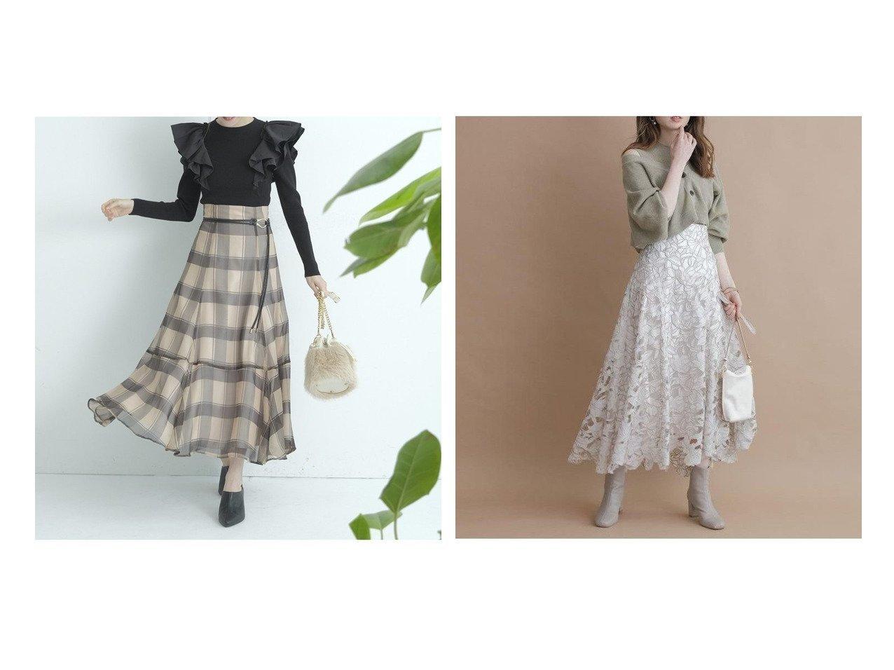 【Apuweiser-riche/アプワイザーリッシェ】のカットワークロングスカート&【Rirandture/リランドチュール】のチェックオーガンスカート 【スカート】おすすめ!人気、トレンド・レディースファッションの通販 おすすめで人気の流行・トレンド、ファッションの通販商品 インテリア・家具・メンズファッション・キッズファッション・レディースファッション・服の通販 founy(ファニー) https://founy.com/ ファッション Fashion レディースファッション WOMEN スカート Skirt Aライン/フレアスカート Flared A-Line Skirts ロングスカート Long Skirt ギャザー フラワー フレア ヘムライン モチーフ レース ロング ワーク エレガント オーガンジー チェック 切替 |ID:crp329100000070674