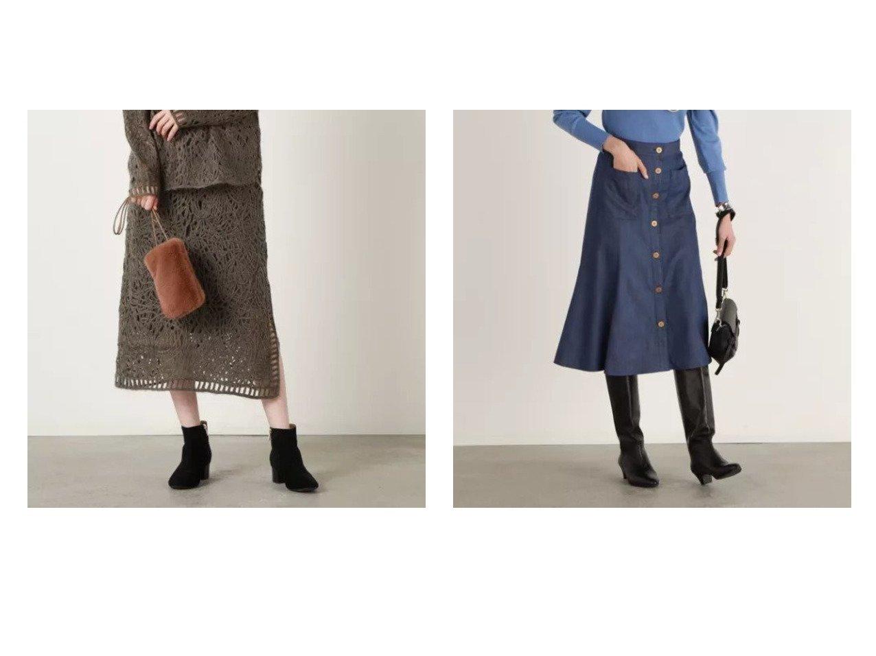 【NOLLEY'S/ノーリーズ】のフロントボタンフレアスカート&【マリリーンムーン】マクラメニットスカート 【スカート】おすすめ!人気、トレンド・レディースファッションの通販 おすすめで人気の流行・トレンド、ファッションの通販商品 インテリア・家具・メンズファッション・キッズファッション・レディースファッション・服の通販 founy(ファニー) https://founy.com/ ファッション Fashion レディースファッション WOMEN スカート Skirt Aライン/フレアスカート Flared A-Line Skirts 2021年 2021 2021-2022秋冬・A/W AW・Autumn/Winter・FW・Fall-Winter・2021-2022 A/W・秋冬 AW・Autumn/Winter・FW・Fall-Winter スリット セットアップ おすすめ Recommend コーデュロイ フレア フロント ポケット 吸水 |ID:crp329100000070680