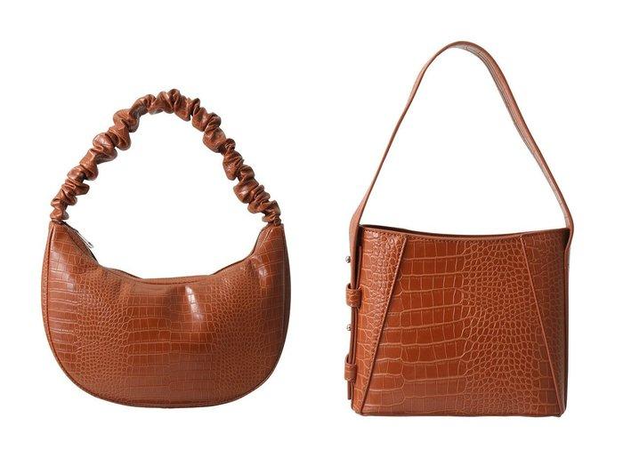 【HVISK/ヴィスク】のBRINY SMALL MATTE CROCO ハンドバッグ&MOON MATTE CROCO ショルダーバッグ 【バッグ・鞄】おすすめ!人気、トレンド・レディースファッションの通販 おすすめ人気トレンドファッション通販アイテム 人気、トレンドファッション・服の通販 founy(ファニー)  ファッション Fashion レディースファッション WOMEN バッグ Bag クロコ ハンドバッグ |ID:crp329100000070717
