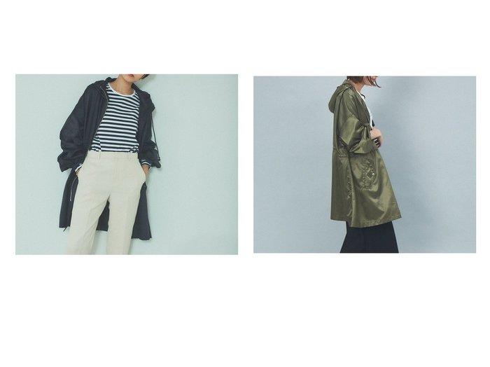 【Rouge vif la cle/ルージュヴィフラクレ】のヴィンテージサテンフードコート 【アウター】おすすめ!人気、トレンド・レディースファッションの通販 おすすめ人気トレンドファッション通販アイテム 人気、トレンドファッション・服の通販 founy(ファニー) ファッション Fashion レディースファッション WOMEN アウター Coat Outerwear コート Coats ジャケット Jackets NEW・新作・新着・新入荷 New Arrivals ジャケット スポーティ パーカー ビッグ ミリタリー モッズコート 定番 Standard 秋 Autumn/Fall |ID:crp329100000070764
