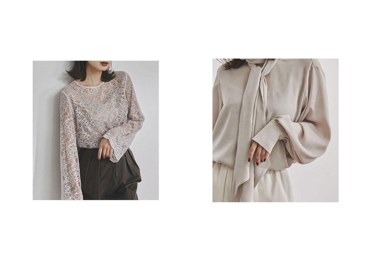 【anuans/アニュアンス】のスウェードサテンボウダイブラウス&スカラップレースブラウス 【トップス・カットソー】おすすめ!人気、トレンド・レディースファッションの通販 おすすめで人気の流行・トレンド、ファッションの通販商品 インテリア・家具・メンズファッション・キッズファッション・レディースファッション・服の通販 founy(ファニー) https://founy.com/ ファッション Fashion レディースファッション WOMEN トップス・カットソー Tops/Tshirt シャツ/ブラウス Shirts/Blouses なめらか アンティーク スリーブ フレア レース トレンド ピーチ ヴィンテージ 今季 |ID:crp329100000070920