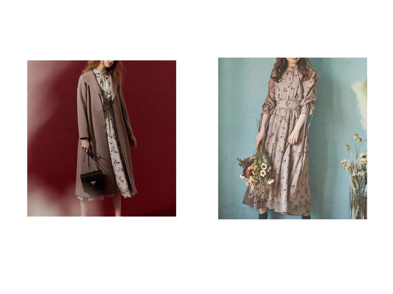 【Noela/ノエラ】のバックフレアオータムコート&フロッキーエアリーワンピ おすすめ!人気、トレンド・レディースファッションの通販 おすすめで人気の流行・トレンド、ファッションの通販商品 インテリア・家具・メンズファッション・キッズファッション・レディースファッション・服の通販 founy(ファニー) https://founy.com/ ファッション Fashion レディースファッション WOMEN ワンピース Dress アウター Coat Outerwear コート Coats 2021年 2021 2021-2022秋冬・A/W AW・Autumn/Winter・FW・Fall-Winter・2021-2022 A/W・秋冬 AW・Autumn/Winter・FW・Fall-Winter インナーキャミ エアリー シアー リボン フレア 秋 Autumn/Fall  ID:crp329100000071012