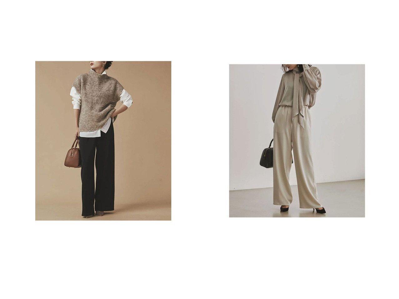 【anuans/アニュアンス】のイージーワイドパンツ おすすめ!人気、トレンド・レディースファッションの通販 おすすめで人気の流行・トレンド、ファッションの通販商品 インテリア・家具・メンズファッション・キッズファッション・レディースファッション・服の通販 founy(ファニー) https://founy.com/ ファッション Fashion レディースファッション WOMEN パンツ Pants  ID:crp329100000071013