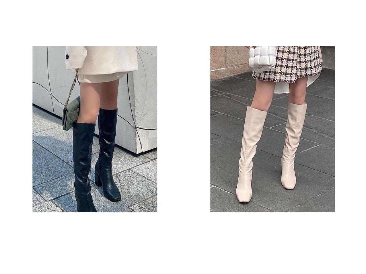【eimy istoire/エイミーイストワール】のスリムスクエアロングブーツ おすすめ!人気、トレンド・レディースファッションの通販 おすすめで人気の流行・トレンド、ファッションの通販商品 インテリア・家具・メンズファッション・キッズファッション・レディースファッション・服の通販 founy(ファニー) https://founy.com/ ファッション Fashion レディースファッション WOMEN シンプル スリム バランス ロング  ID:crp329100000071014