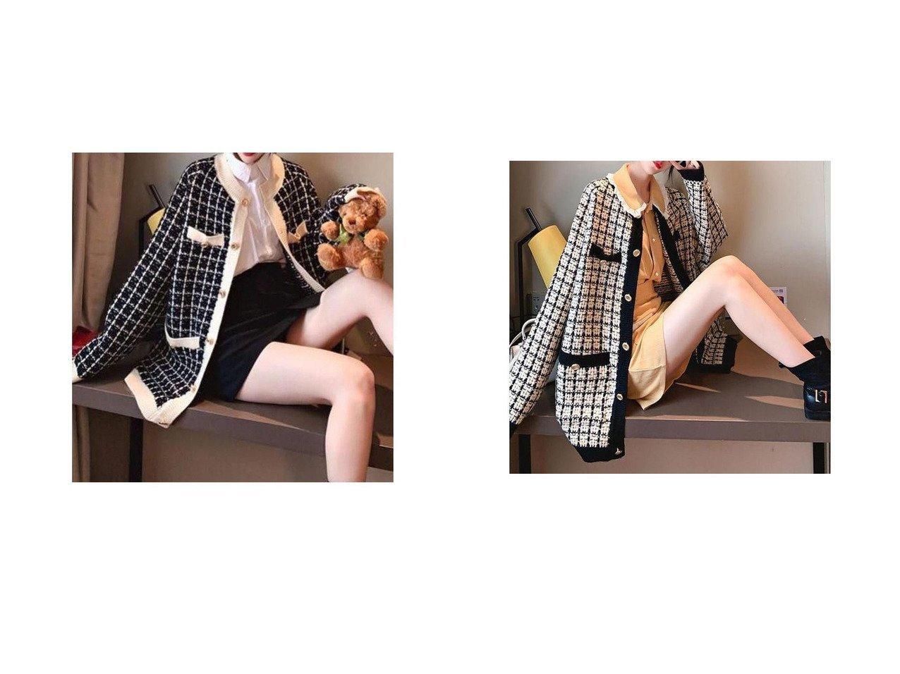 【me Jane/ミージェーン】のチェックツイードカーディガン おすすめ!人気、トレンド・レディースファッションの通販 おすすめで人気の流行・トレンド、ファッションの通販商品 インテリア・家具・メンズファッション・キッズファッション・レディースファッション・服の通販 founy(ファニー) https://founy.com/ ファッション Fashion レディースファッション WOMEN トップス・カットソー Tops/Tshirt カーディガン Cardigans カーディガン クラシカル ツイード 再入荷 Restock/Back in Stock/Re Arrival  ID:crp329100000071018