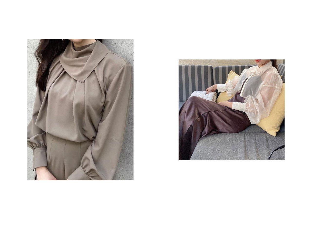 【eimy istoire/エイミーイストワール】のシアーシャツセットキャミワンピース&【anuans/アニュアンス】のスカーフネックブラウス おすすめ!人気、トレンド・レディースファッションの通販 おすすめで人気の流行・トレンド、ファッションの通販商品 インテリア・家具・メンズファッション・キッズファッション・レディースファッション・服の通販 founy(ファニー) https://founy.com/ ファッション Fashion レディースファッション WOMEN トップス・カットソー Tops/Tshirt シャツ/ブラウス Shirts/Blouses ワンピース Dress キャミワンピース No Sleeve Dresses おすすめ Recommend とろみ スカーフ スタンド セットアップ ベーシック インナー キャミワンピース クラシック サテン ショート マーメイド |ID:crp329100000071028