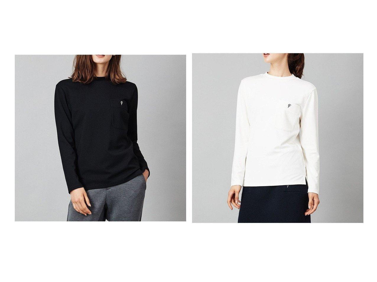 【NIJYUSANKU GOLF/23区 ゴルフ】の【WOMEN】【WEB&一部店舗限定】コットンナイロンポンチTシャツ おすすめ!人気、トレンド・レディースファッションの通販 おすすめで人気の流行・トレンド、ファッションの通販商品 インテリア・家具・メンズファッション・キッズファッション・レディースファッション・服の通販 founy(ファニー) https://founy.com/ ファッション Fashion レディースファッション WOMEN トップス・カットソー Tops/Tshirt シャツ/ブラウス Shirts/Blouses ロング / Tシャツ T-Shirts カットソー Cut and Sewn カットソー スリット チェーン バランス ポケット 送料無料 Free Shipping |ID:crp329100000071044
