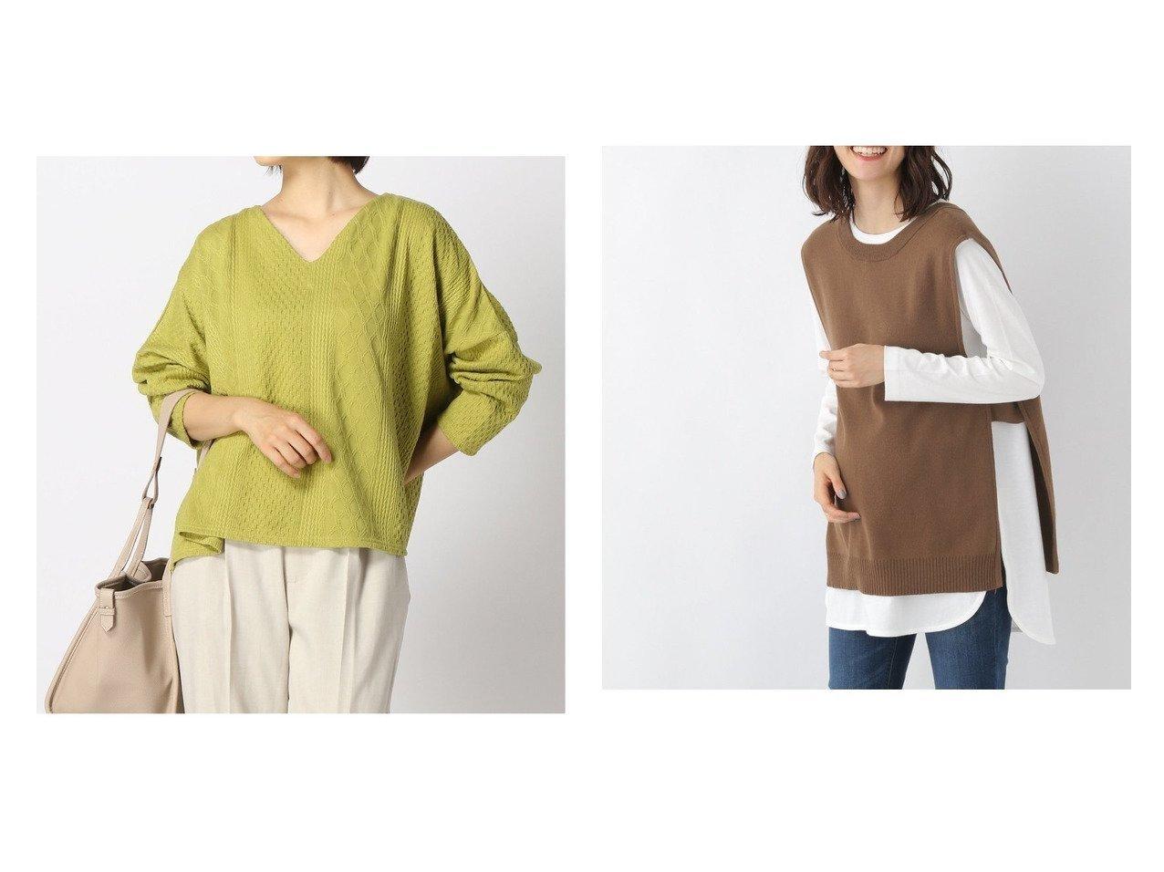 【LEPSIM LOWRYS FARM/レプシィム ローリーズファーム】のMT2WAYニットベスト&ケーブルVネックPO おすすめ!人気、トレンド・レディースファッションの通販 おすすめで人気の流行・トレンド、ファッションの通販商品 インテリア・家具・メンズファッション・キッズファッション・レディースファッション・服の通販 founy(ファニー) https://founy.com/ ファッション Fashion レディースファッション WOMEN トップス・カットソー Tops/Tshirt ニット Knit Tops Vネック V-Neck アウター Coat Outerwear キャミソール / ノースリーブ No Sleeves ベスト/ジレ Gilets/Vests NEW・新作・新着・新入荷 New Arrivals カットソー バランス 楽ちん 長袖 インナー スリット ノースリーブ ベスト 洗える |ID:crp329100000071062
