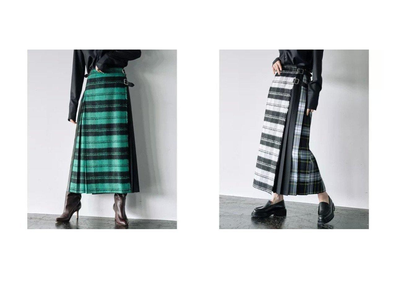 【GALLARDAGALANTE/ガリャルダガランテ】の【O NEIL OF DUBLIN】チェックロングスカート/別注 別注・限定・コラボなど、おすすめ!人気、トレンド・レディースファッションの通販 おすすめで人気の流行・トレンド、ファッションの通販商品 インテリア・家具・メンズファッション・キッズファッション・レディースファッション・服の通販 founy(ファニー) https://founy.com/ ファッション Fashion レディースファッション WOMEN スカート Skirt ロングスカート Long Skirt イエロー キルト シンプル チェック フィット フロント プリーツ 別注 マキシ ロング ワンポイント  ID:crp329100000071124