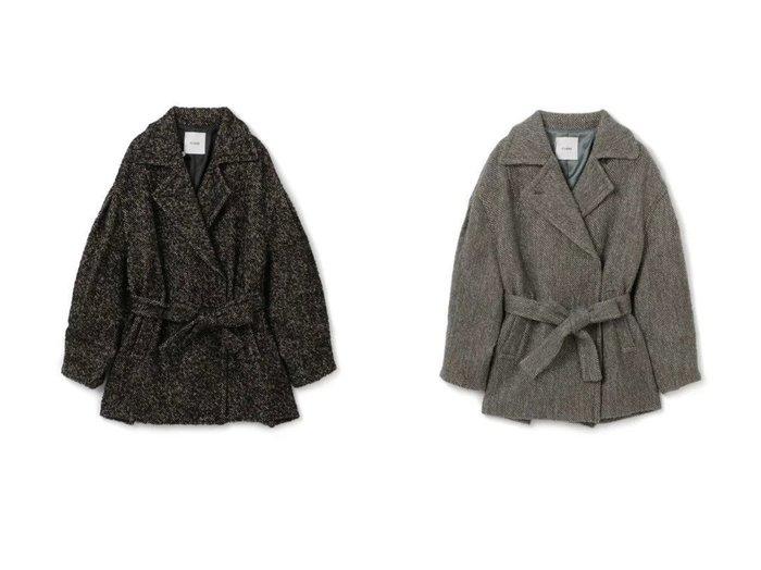 【CLANE/クラネ】のMIX LOOP TWEED BOX COAT 【アウター】おすすめ!人気、トレンド・レディースファッションの通販 おすすめ人気トレンドファッション通販アイテム インテリア・キッズ・メンズ・レディースファッション・服の通販 founy(ファニー) https://founy.com/ ファッション Fashion レディースファッション WOMEN アウター Coat Outerwear コート Coats Pコート Pea Coats 2021年 2021 2021-2022秋冬・A/W AW・Autumn/Winter・FW・Fall-Winter・2021-2022 A/W・秋冬 AW・Autumn/Winter・FW・Fall-Winter エレガント ツイード ボックス ミックス リボン ループ  ID:crp329100000071235