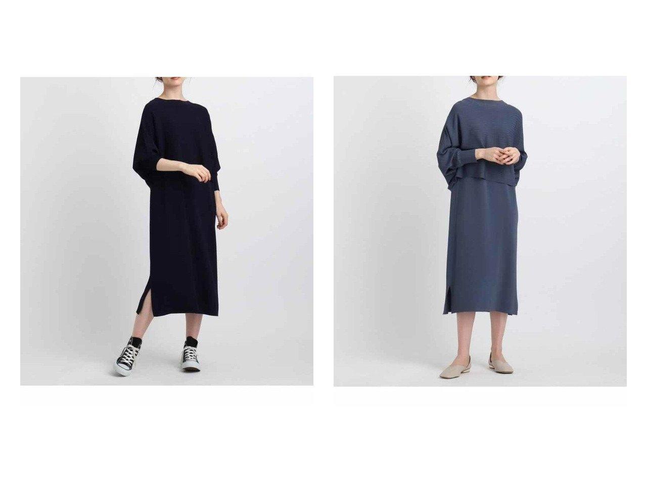 【INDIVI/インディヴィ】の【2点セット】クロップドニット レイヤードワンピース 【ワンピース・ドレス】おすすめ!人気、トレンド・レディースファッションの通販 おすすめで人気の流行・トレンド、ファッションの通販商品 インテリア・家具・メンズファッション・キッズファッション・レディースファッション・服の通販 founy(ファニー) https://founy.com/ ファッション Fashion レディースファッション WOMEN ワンピース Dress インナー クロップド スリット セパレート ドレープ フェミニン ボレロ ワイド |ID:crp329100000071269