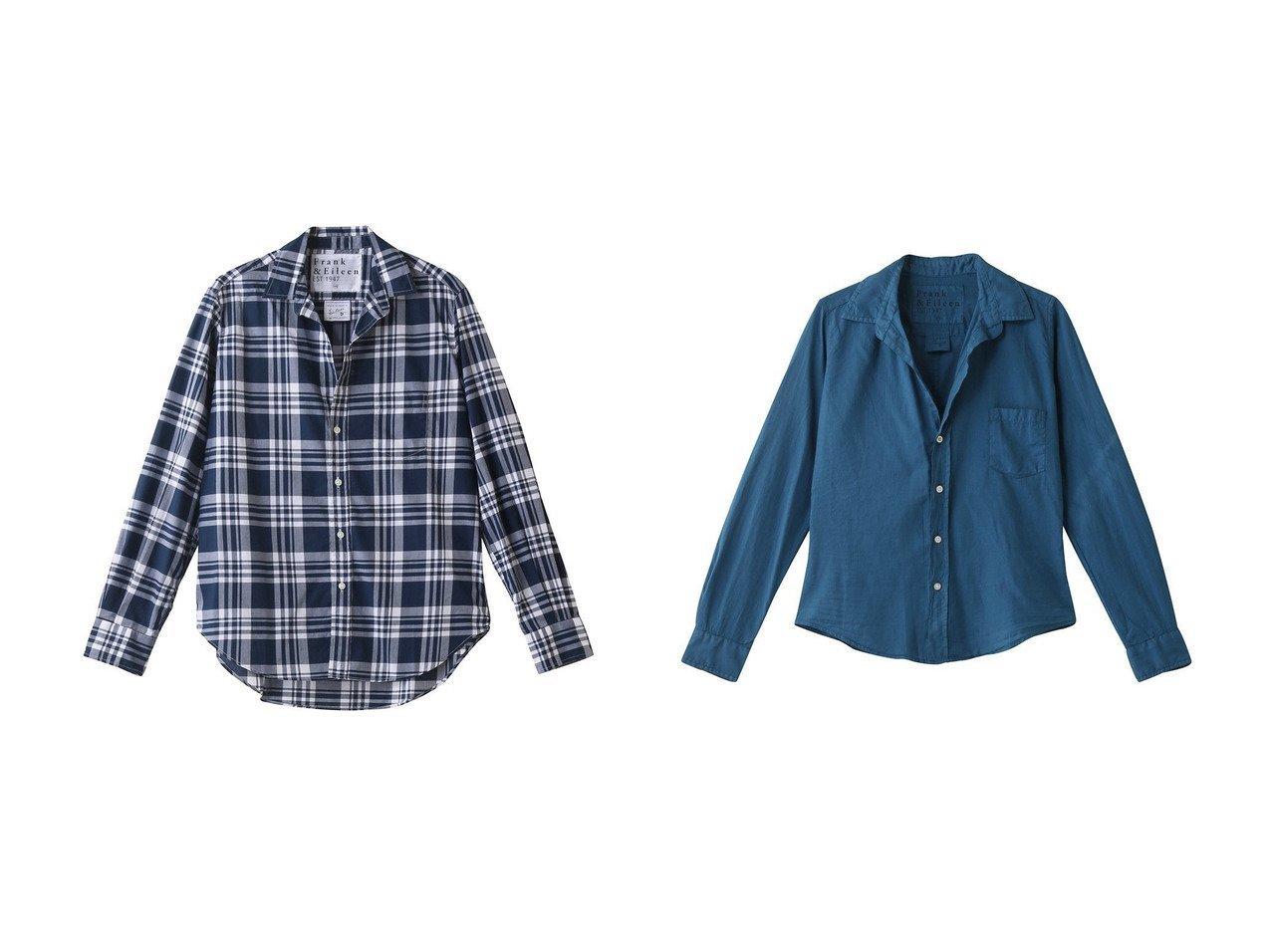 【Frank&Eileen/フランク&アイリーン】のEILEEN LIMITED EDITION イタリアンコットン チェックシャツ&BARRY オーガニックコットンボイル カラーシャツ 【トップス・カットソー】おすすめ!人気、トレンド・レディースファッションの通販 おすすめで人気の流行・トレンド、ファッションの通販商品 インテリア・家具・メンズファッション・キッズファッション・レディースファッション・服の通販 founy(ファニー) https://founy.com/ ファッション Fashion レディースファッション WOMEN トップス・カットソー Tops/Tshirt シャツ/ブラウス Shirts/Blouses スリーブ チェック バランス ロング |ID:crp329100000071303