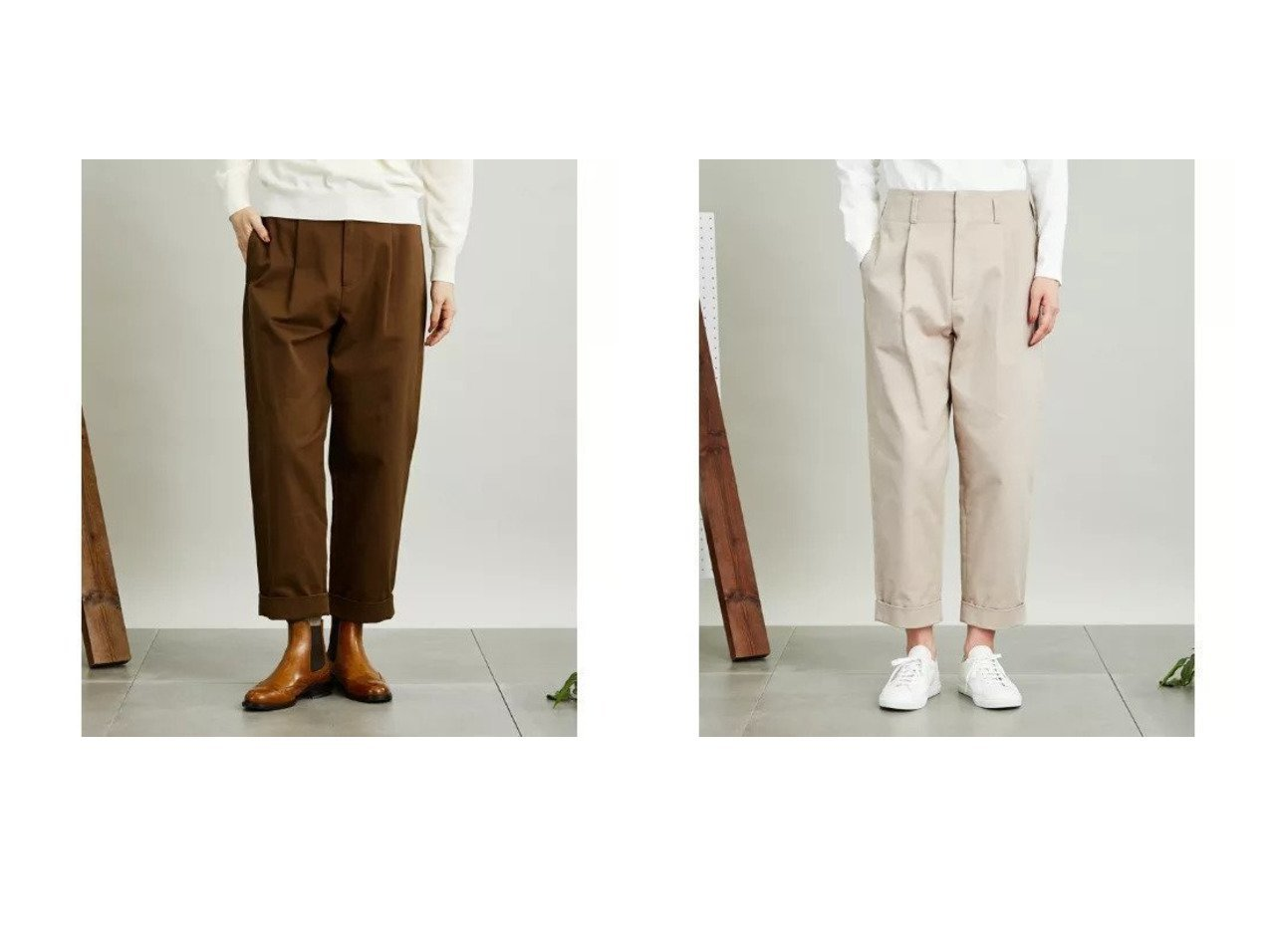 【SIPULI/シプリ】のOrganic Cotton Drill ハイウエストタックパンツ 【パンツ】おすすめ!人気、トレンド・レディースファッションの通販 おすすめで人気の流行・トレンド、ファッションの通販商品 インテリア・家具・メンズファッション・キッズファッション・レディースファッション・服の通販 founy(ファニー) https://founy.com/ ファッション Fashion レディースファッション WOMEN パンツ Pants クラシカル ダブル ミドル A/W・秋冬 AW・Autumn/Winter・FW・Fall-Winter  ID:crp329100000071349