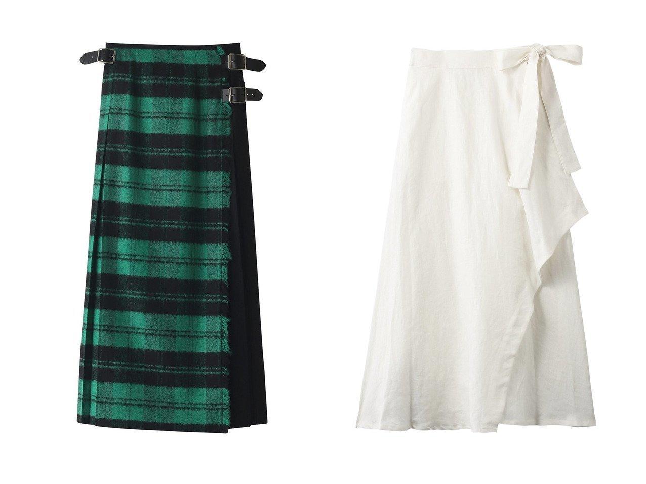 【Julier/ジュリエ】のリネンラップスカート&【GALLARDAGALANTE/ガリャルダガランテ】の【O NEIL OF DUBLIN】別注チェックロングスカート 【スカート】おすすめ!人気、トレンド・レディースファッションの通販 おすすめで人気の流行・トレンド、ファッションの通販商品 インテリア・家具・メンズファッション・キッズファッション・レディースファッション・服の通販 founy(ファニー) https://founy.com/ ファッション Fashion レディースファッション WOMEN スカート Skirt ロングスカート Long Skirt アシンメトリー マキシ ヨガ ラップ リボン レギンス ロング ワーク A/W・秋冬 AW・Autumn/Winter・FW・Fall-Winter コンビ チェック トレンド プリーツ 別注 |ID:crp329100000071358