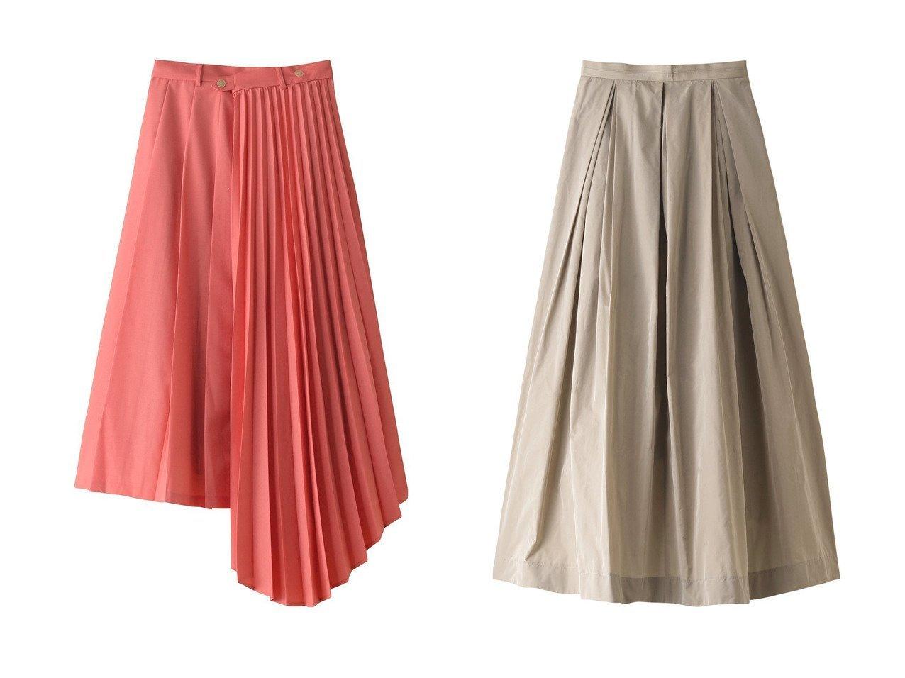 【LE CIEL BLEU/ルシェル ブルー】のアシンメトリープリーツスカート&【DEPAREILLE/デパリエ】のマイクロタフタスカート 【スカート】おすすめ!人気、トレンド・レディースファッションの通販 おすすめで人気の流行・トレンド、ファッションの通販商品 インテリア・家具・メンズファッション・キッズファッション・レディースファッション・服の通販 founy(ファニー) https://founy.com/ ファッション Fashion レディースファッション WOMEN スカート Skirt プリーツスカート Pleated Skirts ロングスカート Long Skirt アシンメトリー プリーツ ロング ワイド タフタ バランス |ID:crp329100000071360