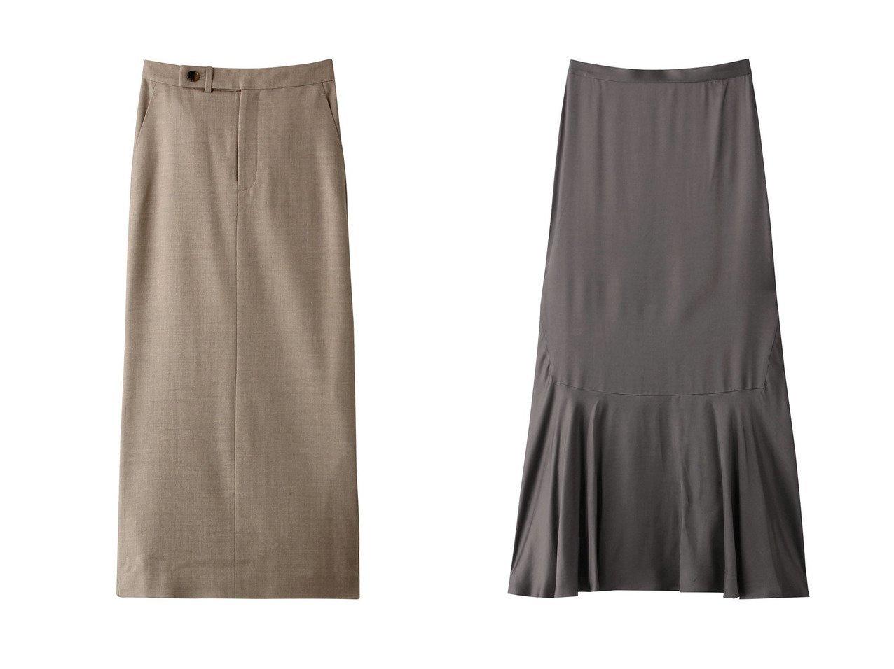 【DEPAREILLE/デパリエ】のサイドボタンスカート&裾フレアスカート 【スカート】おすすめ!人気、トレンド・レディースファッションの通販 おすすめで人気の流行・トレンド、ファッションの通販商品 インテリア・家具・メンズファッション・キッズファッション・レディースファッション・服の通販 founy(ファニー) https://founy.com/ ファッション Fashion レディースファッション WOMEN スカート Skirt ロングスカート Long Skirt Aライン/フレアスカート Flared A-Line Skirts シンプル スリット ロング |ID:crp329100000071365