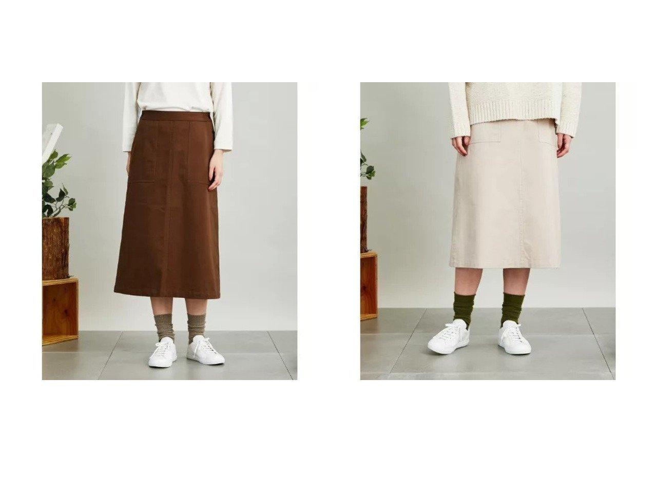 【SIPULI/シプリ】のOrganic Cotton Drill ミドル丈スカート 【スカート】おすすめ!人気、トレンド・レディースファッションの通販 おすすめで人気の流行・トレンド、ファッションの通販商品 インテリア・家具・メンズファッション・キッズファッション・レディースファッション・服の通販 founy(ファニー) https://founy.com/ ファッション Fashion レディースファッション WOMEN スカート Skirt クロップド マキシ ミドル ミリタリー ロング A/W・秋冬 AW・Autumn/Winter・FW・Fall-Winter |ID:crp329100000071376